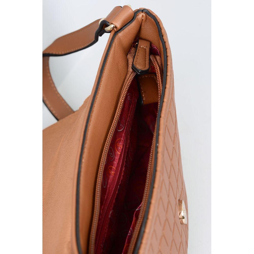 Bolsa Feminina Wj Miryan SINT - CARAMELO - Mundial Calçados