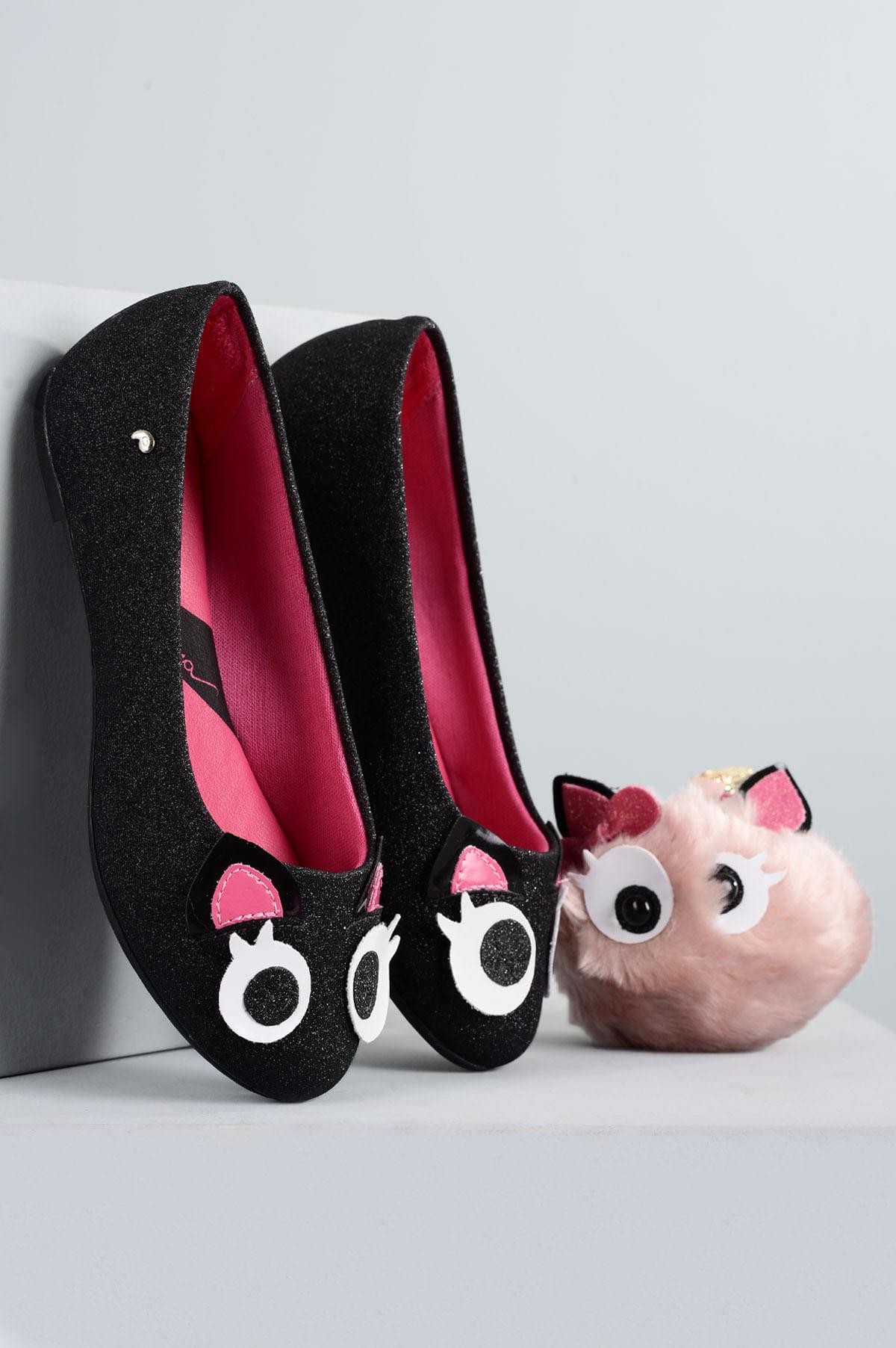 090f159e3f Sapatilha Infantil Pampili Camy SINT - PRETO - Mundial Calçados