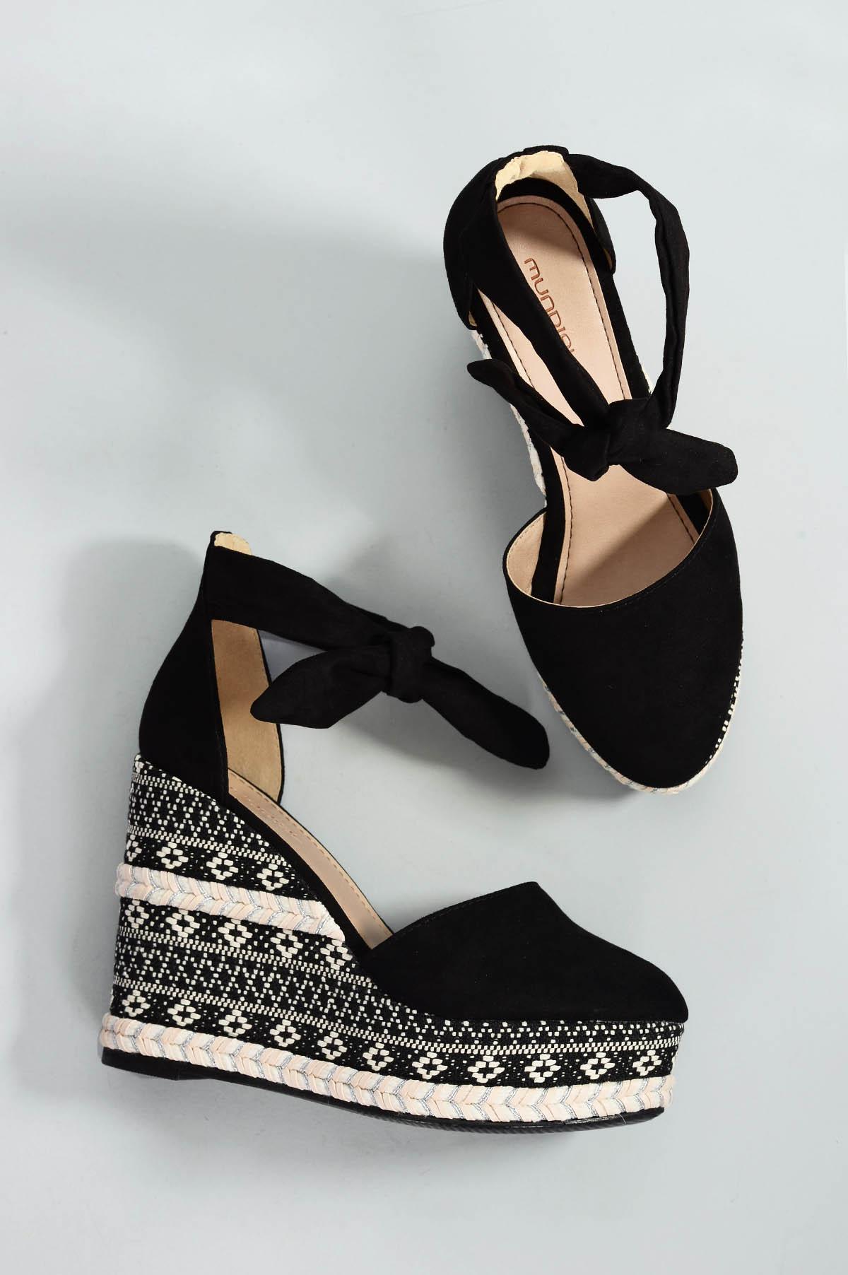 29861a5d80 Sapato Feminino Anabela Caron Mundial CAM - PRETO - Mundial Calçados
