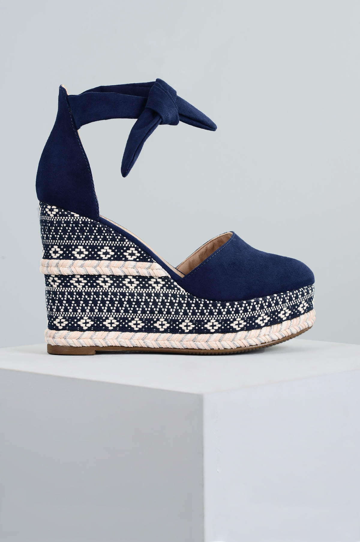 53e1538e55 Sapato Feminino Anabela Caron Mundial CAM - MARINHO - Mundial Calçados