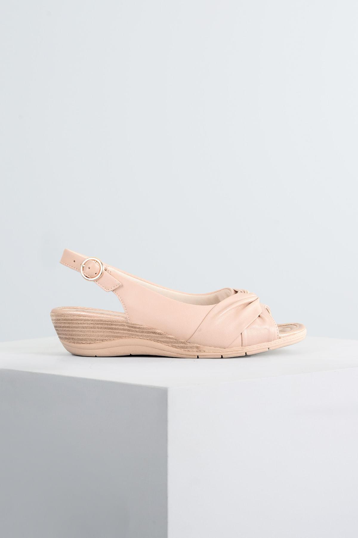 856e7320f6 Sandália Feminina Ultrasoft Comfort Flex SINT - NUDE - Mundial Calçados