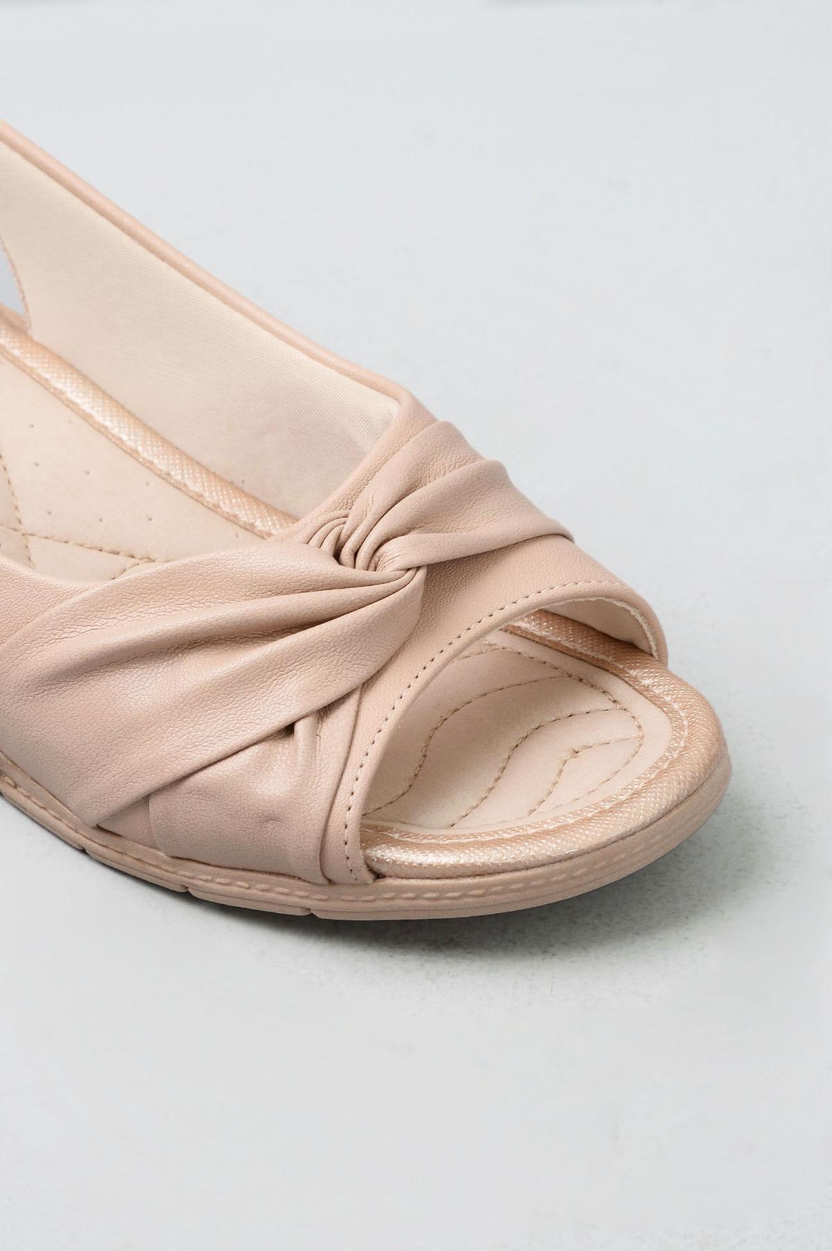 18d2dc36c Sandália Feminina Ultrasoft Comfort Flex SINT - NUDE - Mundial Calçados