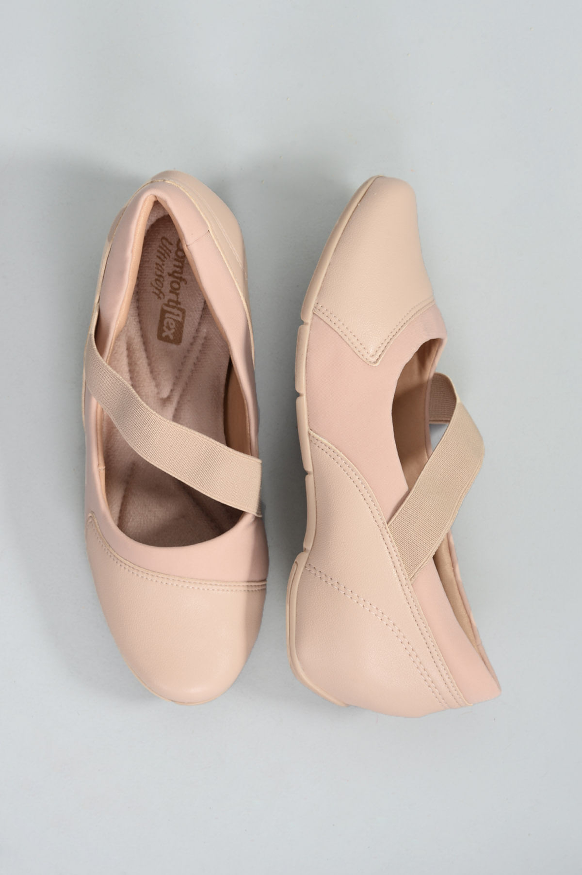 1dd37deb1 Sapato Feminino Ultrasoft Comfort Flex SINT - NUDE - Mundial Calçados