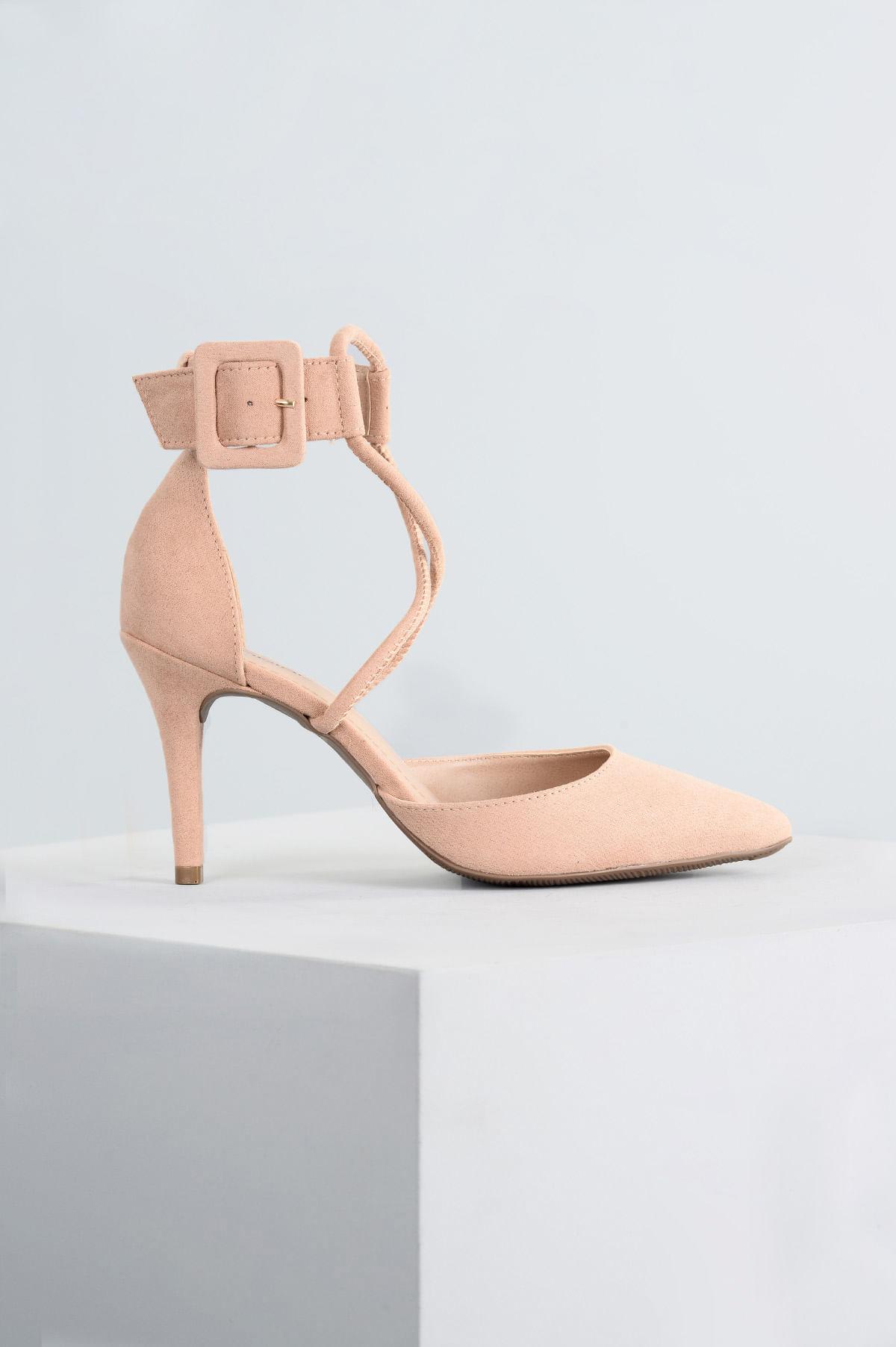 c0aaff5b03 Sapato Salto Alto Raysa Mundial CAM - BEGE - Mundial Calçados