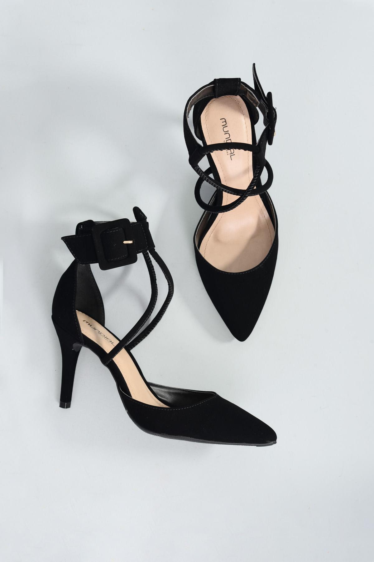 3d899153147 Sapato Salto Alto Raysa Mundial NB - PRETO - Mundial Calçados