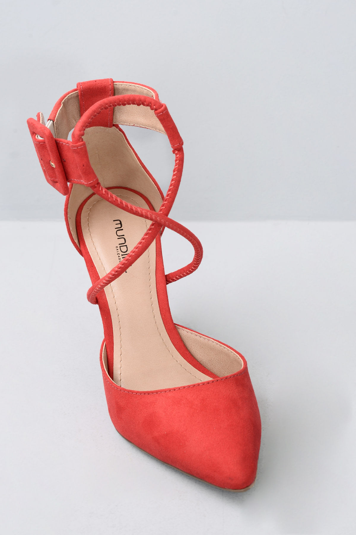 c211ee273 Sapato Salto Alto Raysa Mundial CAM - VERMELHO - Mundial Calçados
