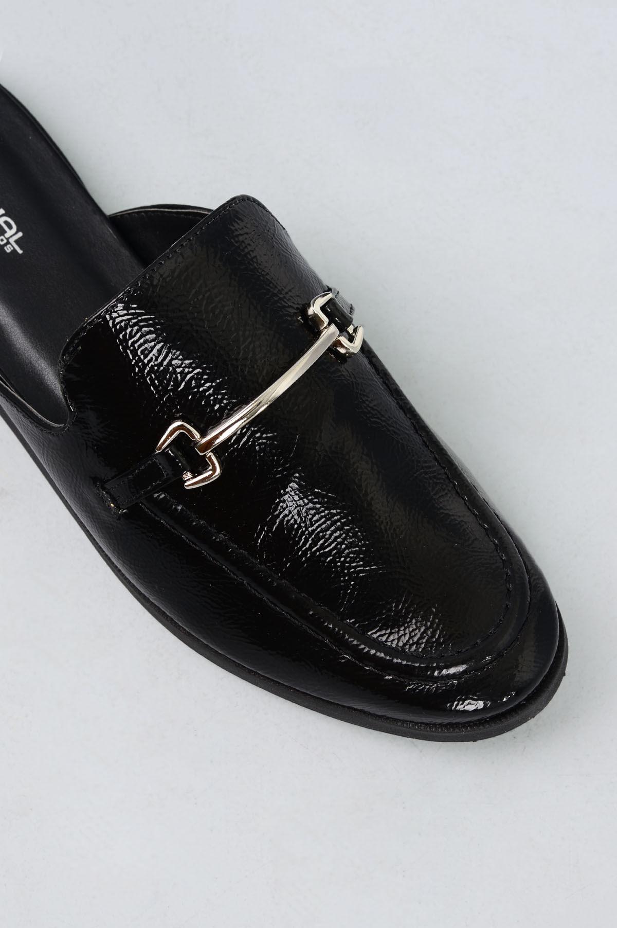 b1e53d16909 Mule Feminino Cibele Mundial VERNIZ PRETO - Mundial Calçados