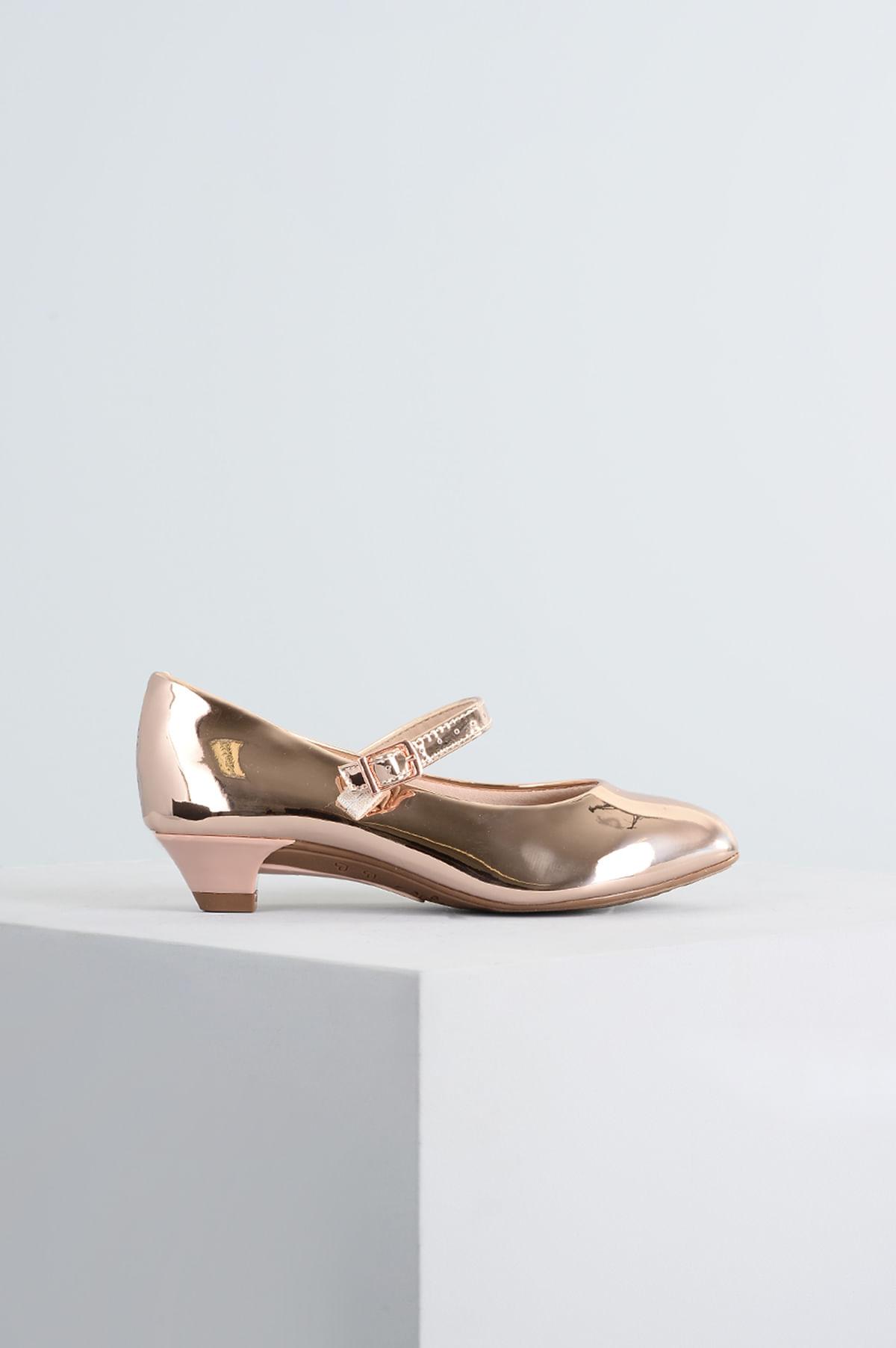 19b7834996 Sapato Infantil Molekinha Poly SINT - DOURADO - Mundial Calçados