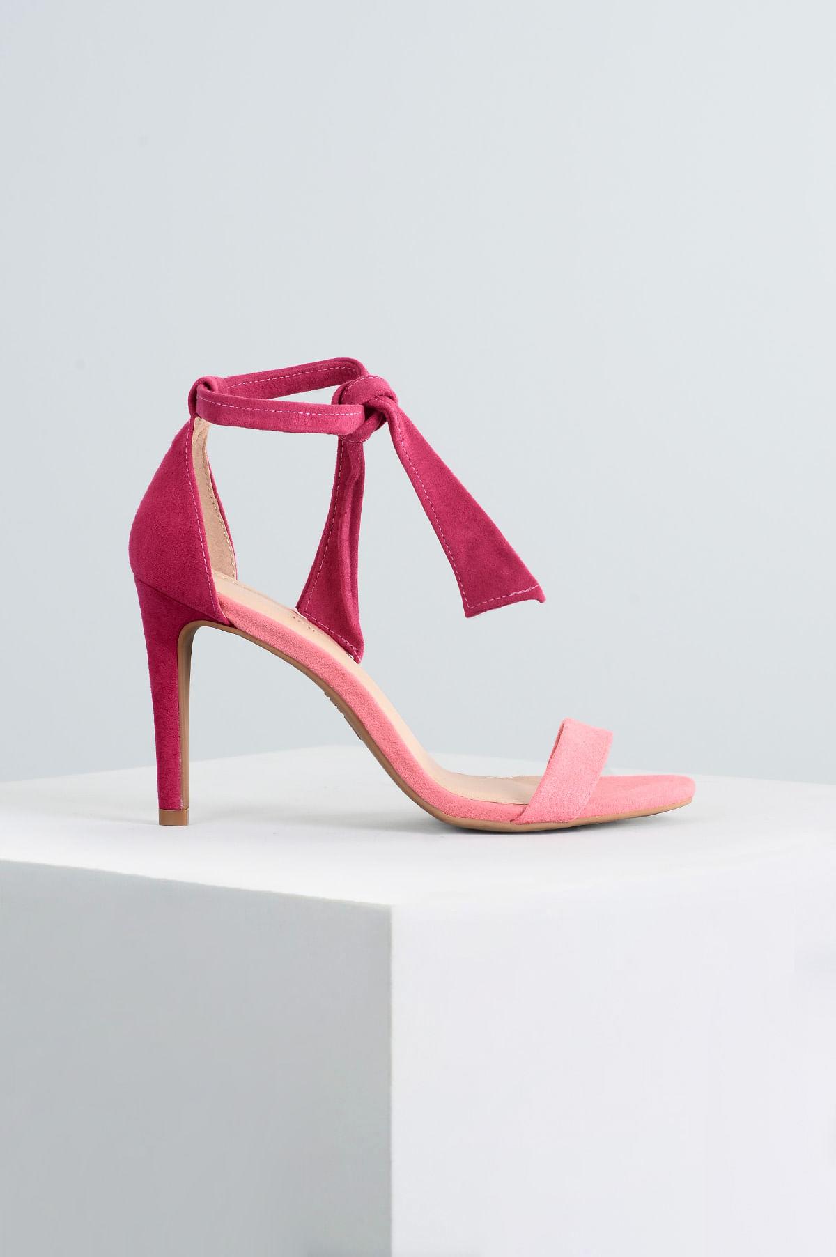8e545663d0 Sandália Feminina Salto Alto Sheri Mundial CAM - PINK - Mundial Calçados