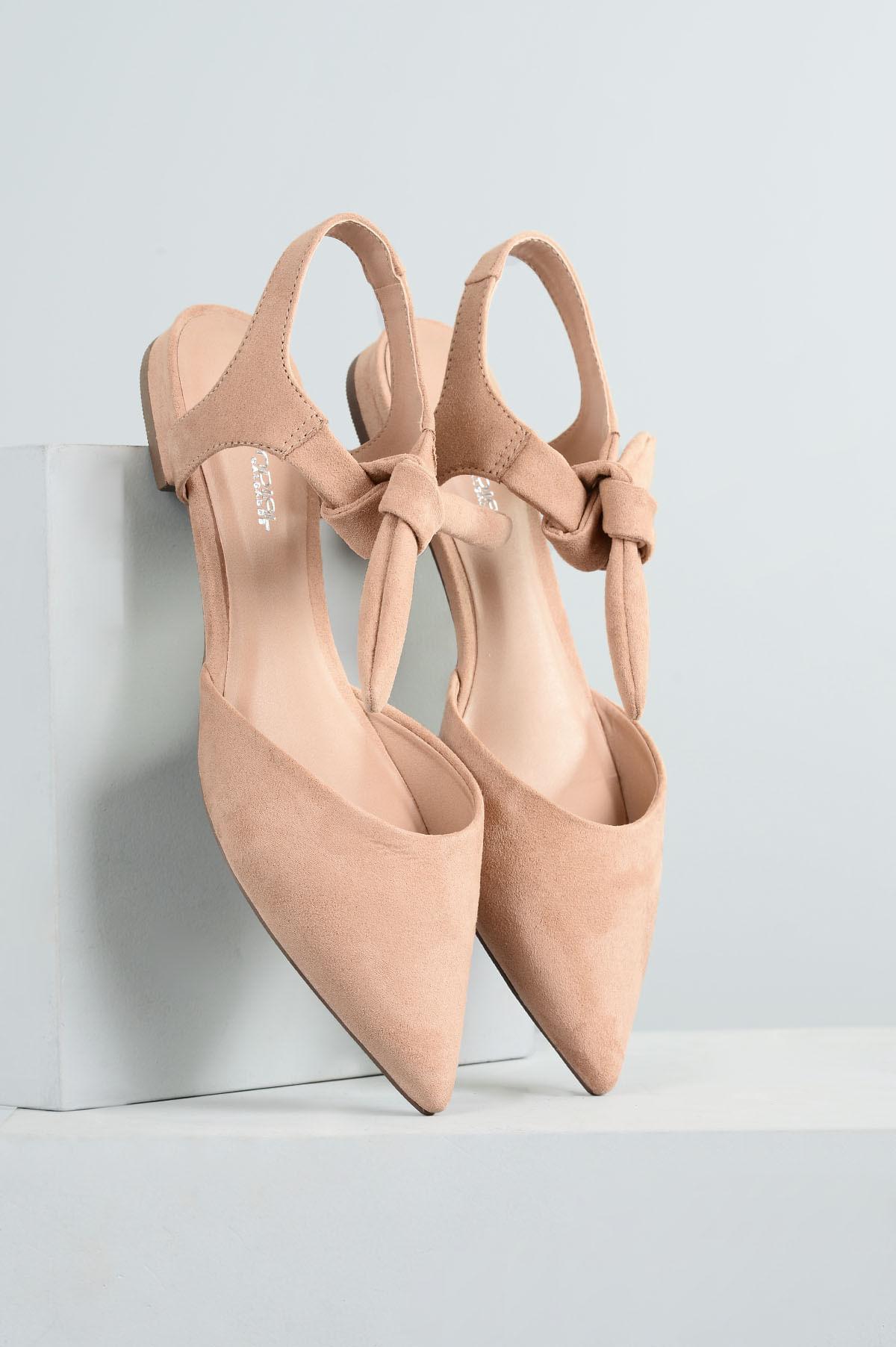 934c593c74 Sapatilha Feminina Bico Fino Helyn Mundial CAM - BEGE - Mundial Calçados