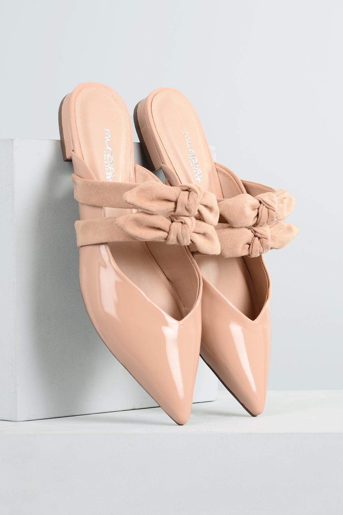 6ac22eb4fb Mule Feminino Nayara Mundial VERNIZ - BEGE - Mundial Calçados
