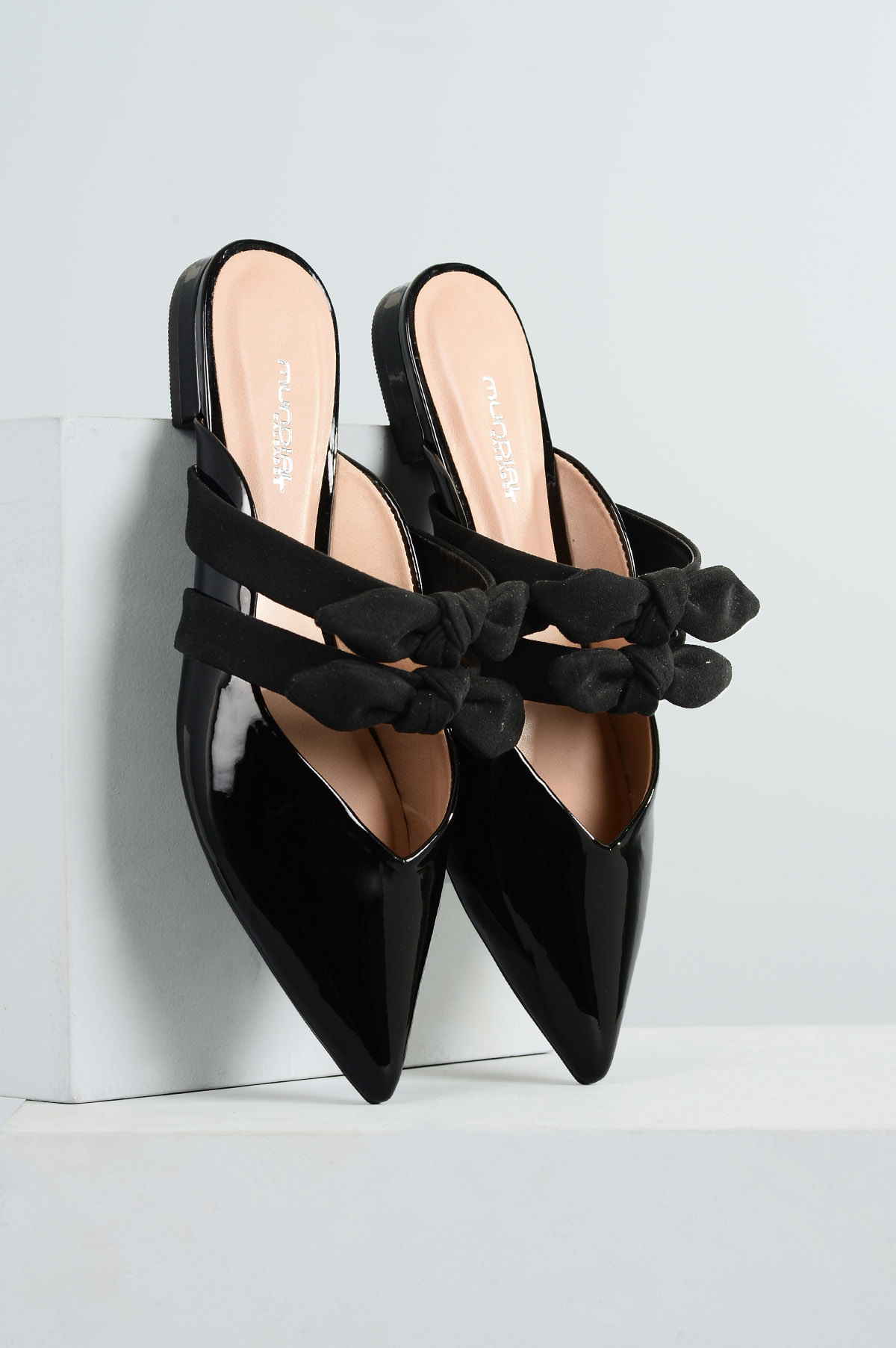f388eaa593 Mule Feminino Nayara Mundial VERNIZ PRETO - Mundial Calçados