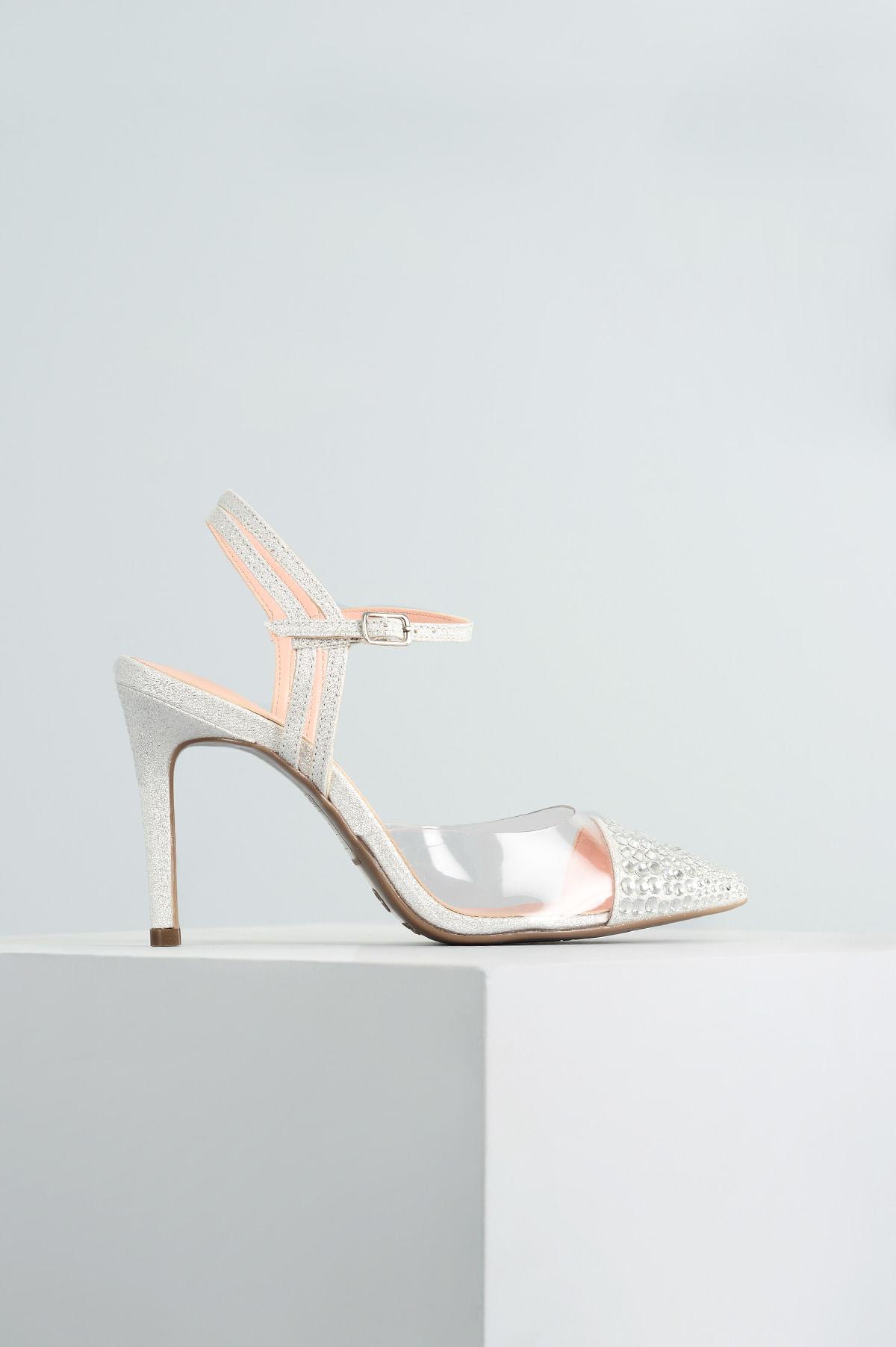 96b2945d44 Sapato Salto Alto Moncey Mundial TEC - PRATA - Mundial Calçados