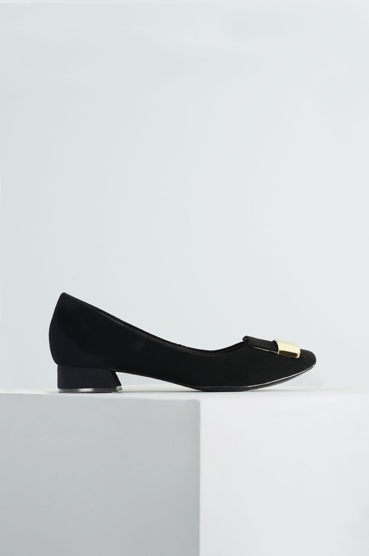 23c5b15523 Sapato Feminino Salto Baixo Bethy Mundial NB - PRETO - Mundial Calçados