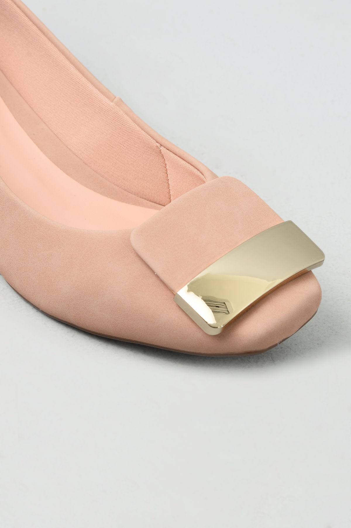 ef8e91373 Sapato Feminino Salto Baixo Bethy Mundial NB - NUDE - Mundial Calçados