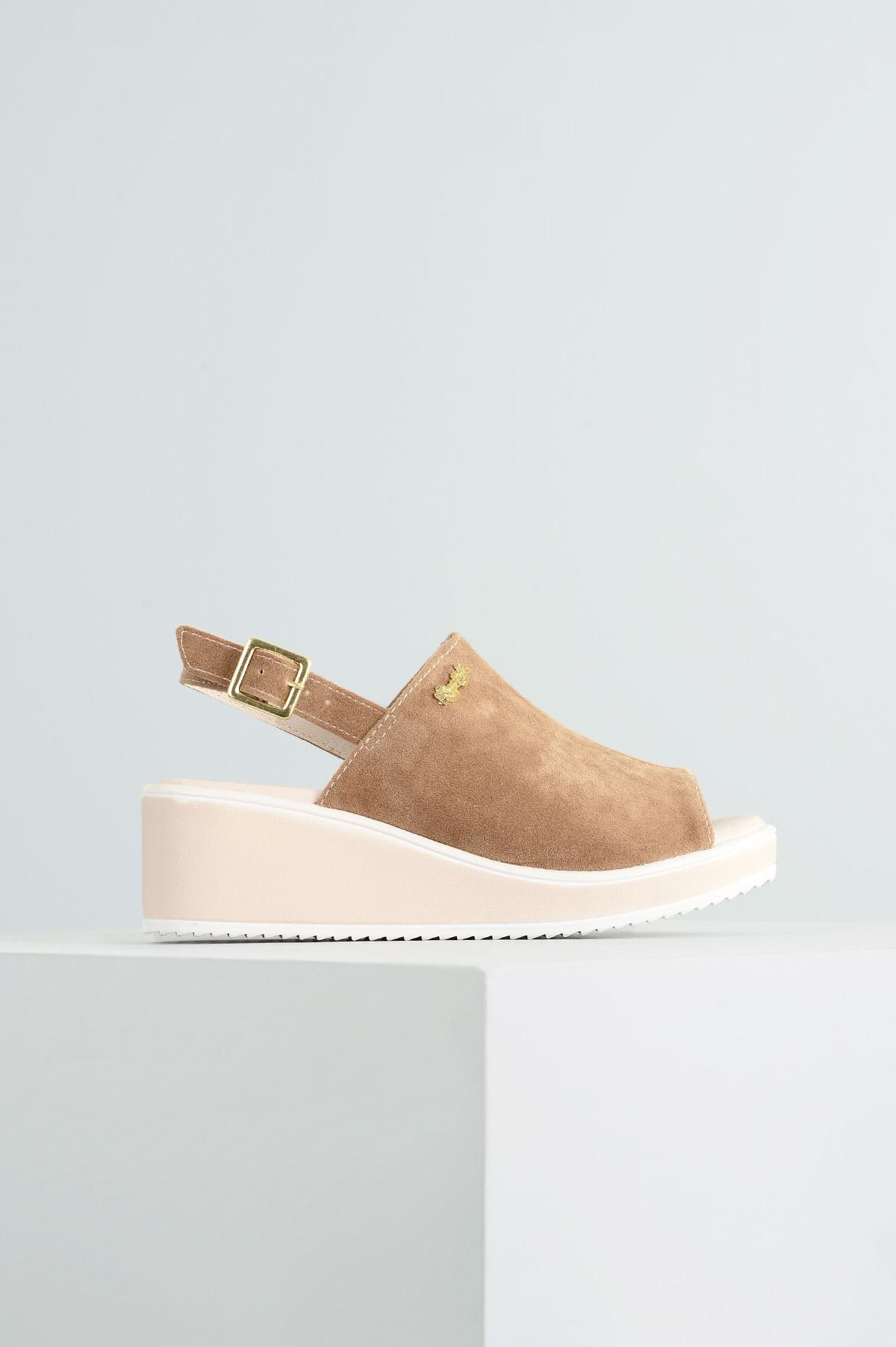 3c91743914 Sandália Infantil Anabela Yasmin Klassipé CAM - BEGE - Mundial Calçados