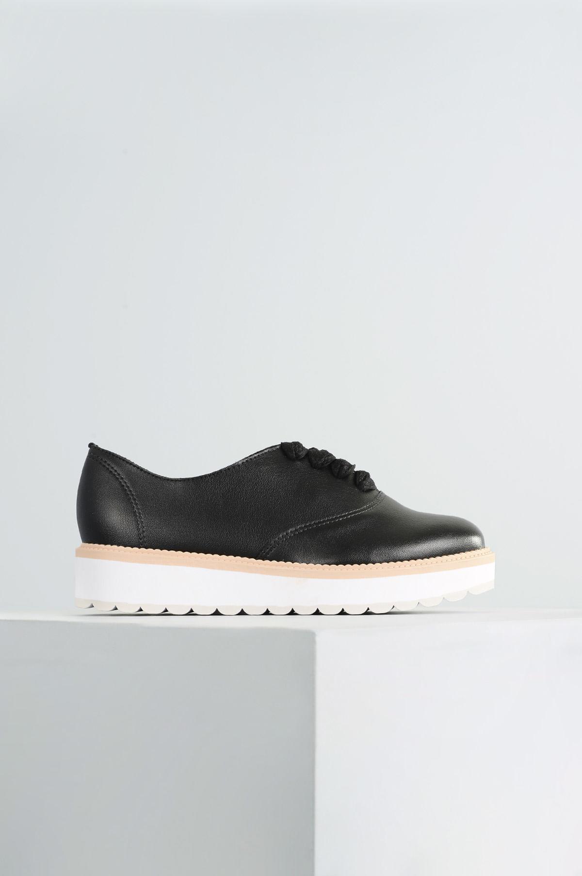 04389e80d4 Oxford Feminino Geany Beira Rio SINT - PRETO - Mundial Calçados