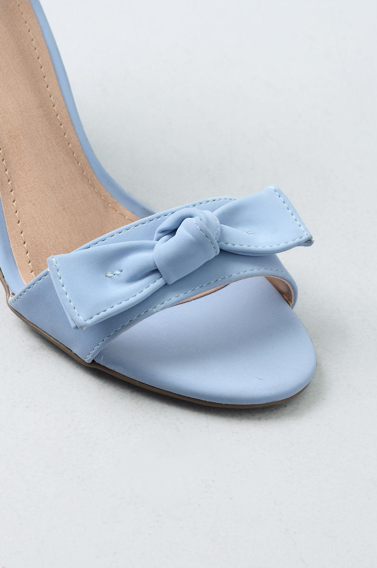 f3ca74613 Sandália Feminina Salto Alto Shary Mundial NB - AZUL - Mundial Calçados