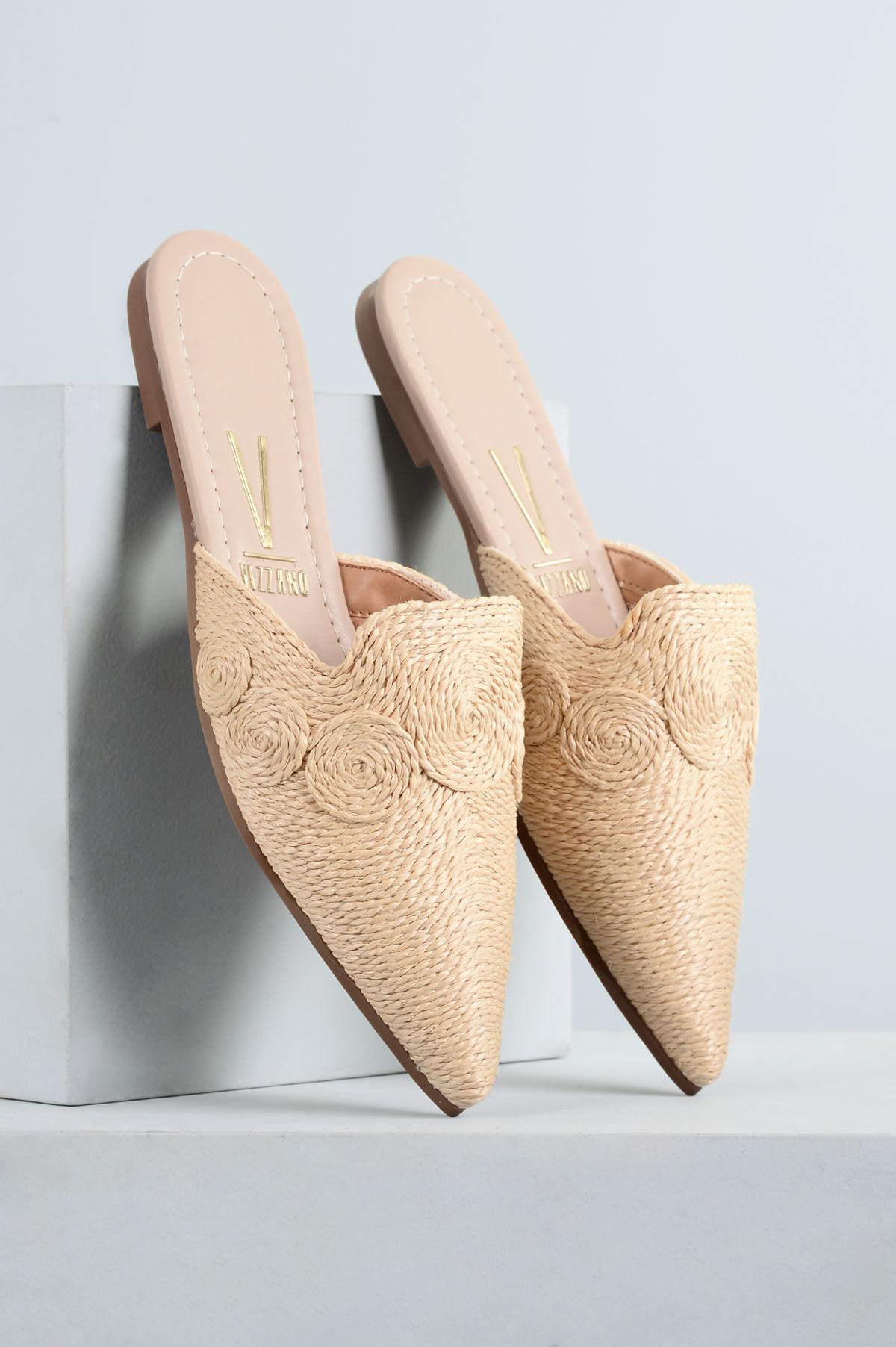 35cb02be8f Mule Feminino Melina Vizzano DIVERSOS - NATURAL - Mundial Calçados