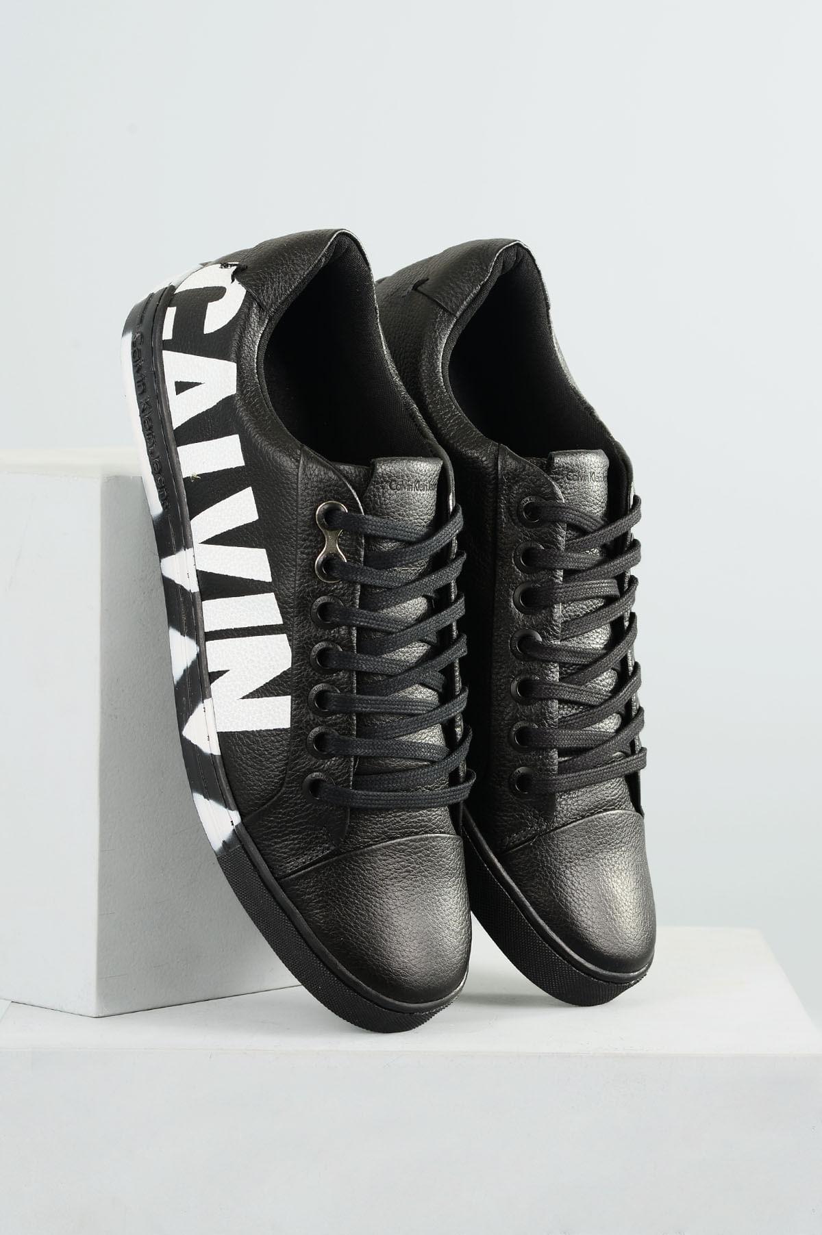 78b9e42908ed0 Sapatênis Masculino Calvin Klein Pedro CR-PRETO - Mundial Calçados