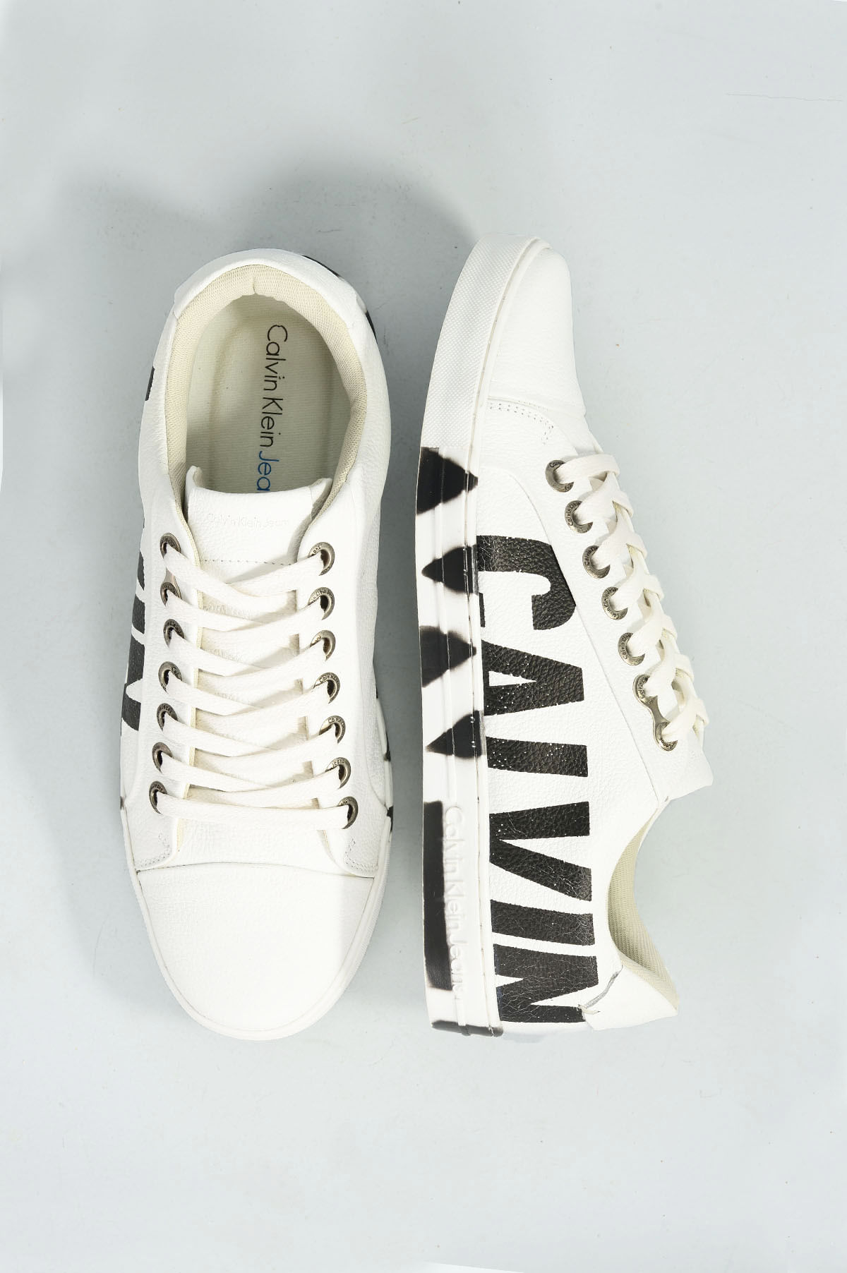 aed7bb3cd6e Sapatênis Masculino Calvin Klein Pedro CR-BRANCO - Mundial Calçados