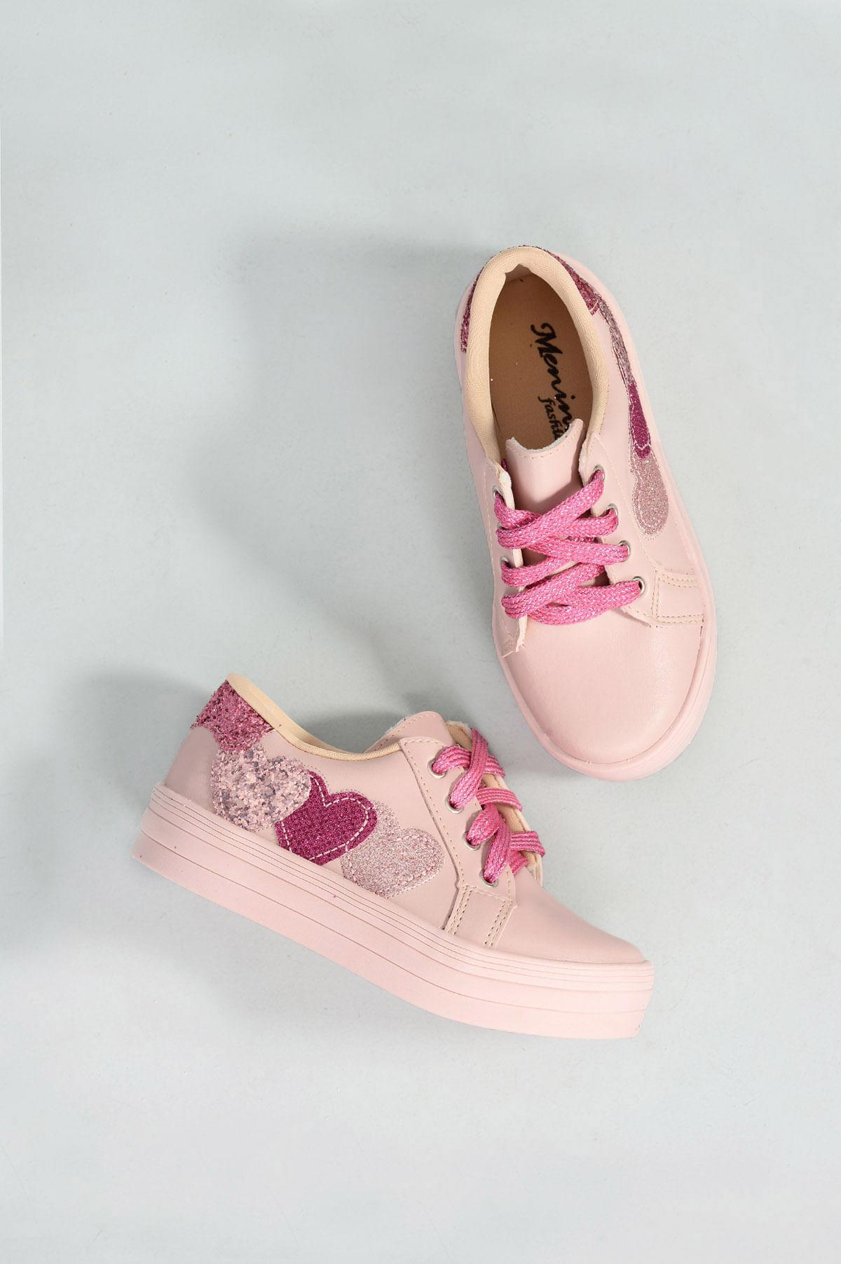 3972db107 Tênis Infantil Larissa Menina Fashion SINT - NUDE - Mundial Calçados