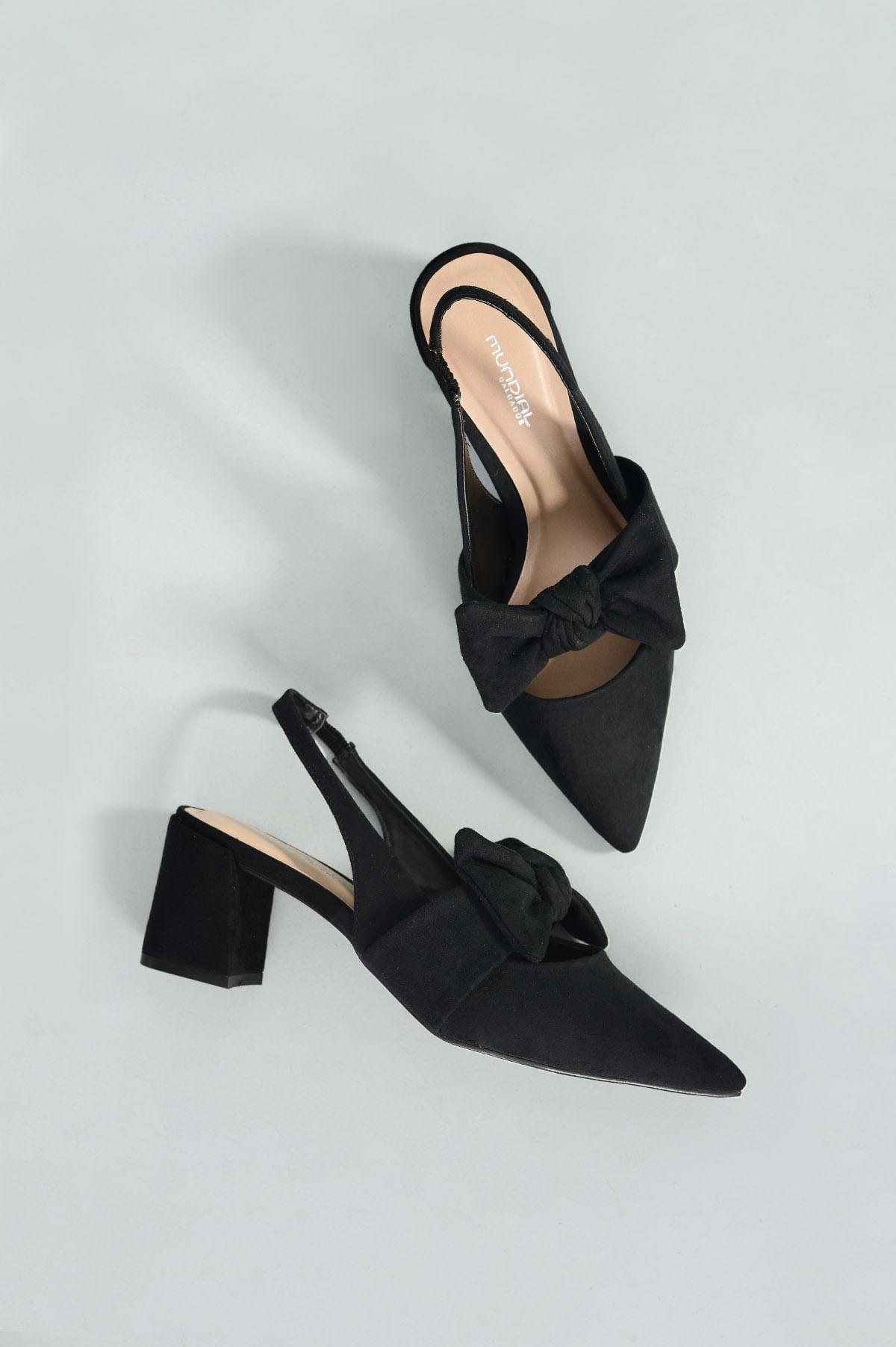 a1eb1f4d278 Sapato Feminino Salto Alto Tarcila Mundial NB - PRETO - Mundial Calçados