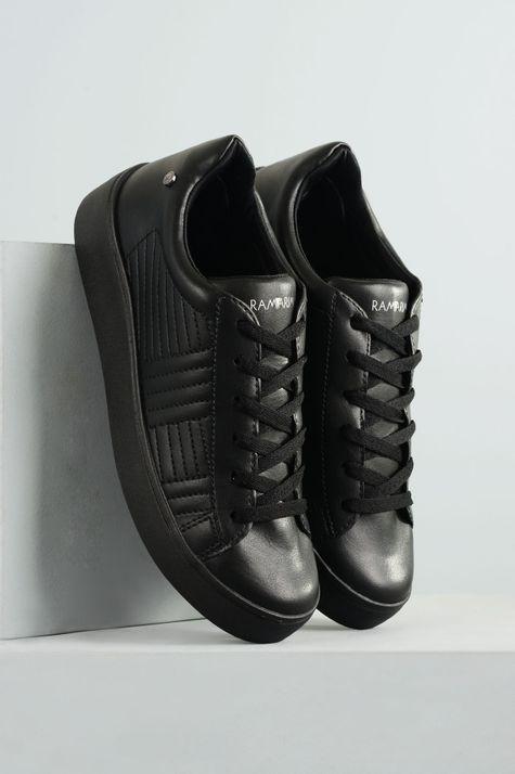 fc9c335f3f Tênis Feminino Plataforma Foster Ramarim SINT - PRETO - Mundial Calçados