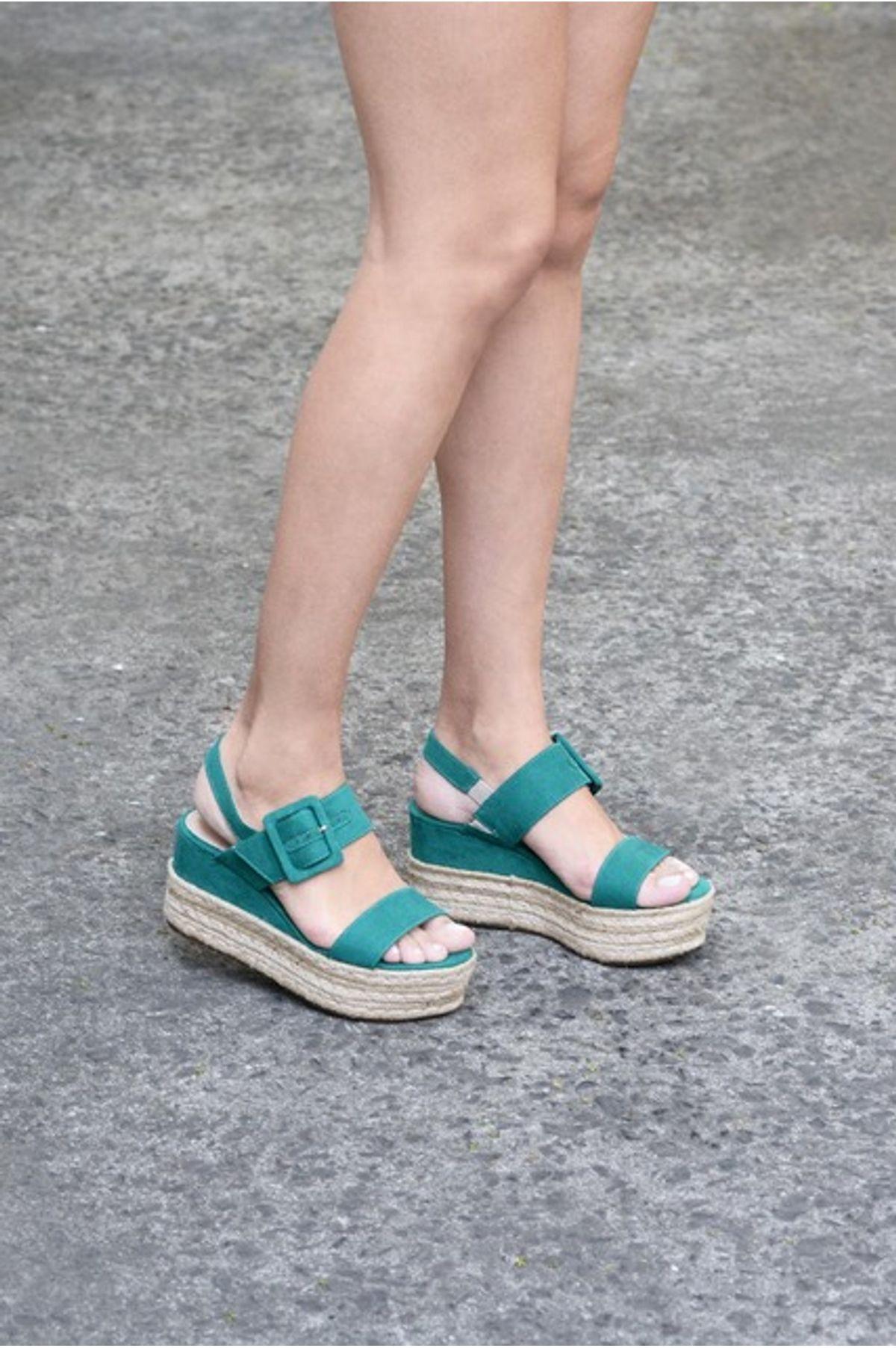 122a431ddd Sandália Feminina Anabela Leiah Mundial CAM - VERDE - Mundial Calçados