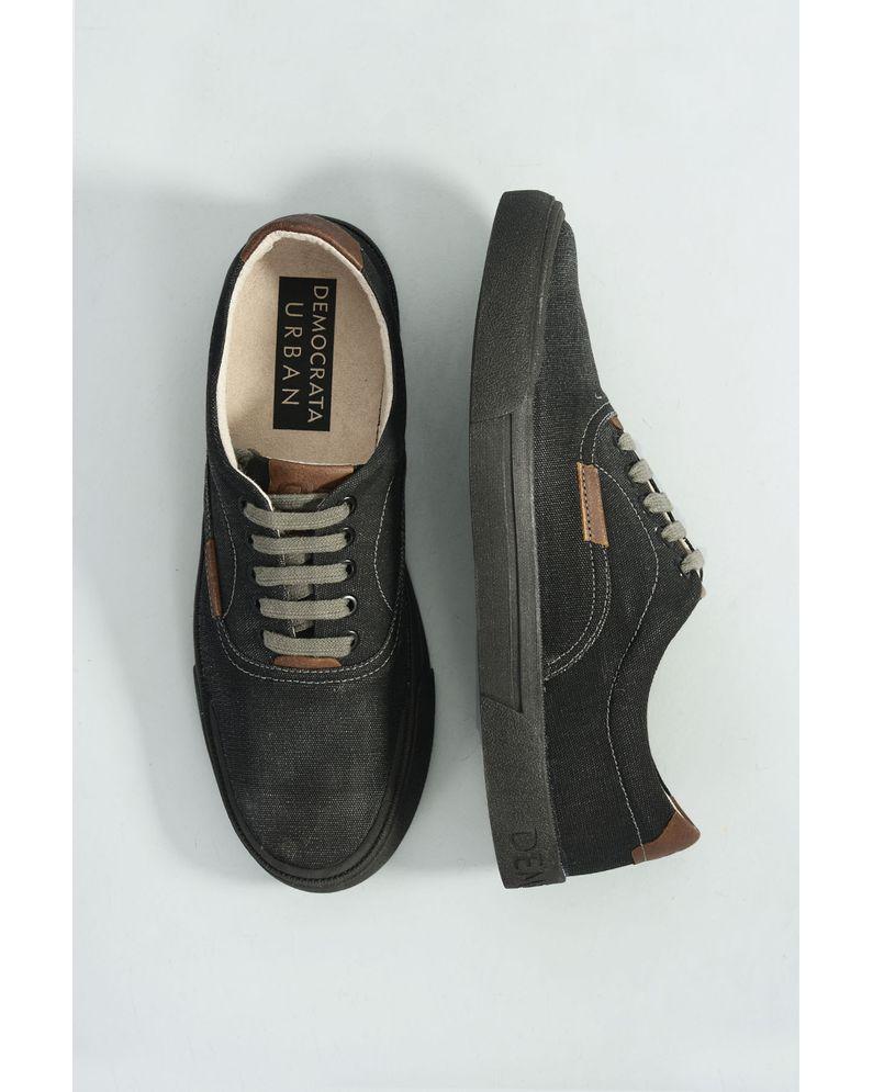 c2d04e07c Sapatênis Masculino Democrata Urban Blow TEC - PRETO - Mundial Calçados