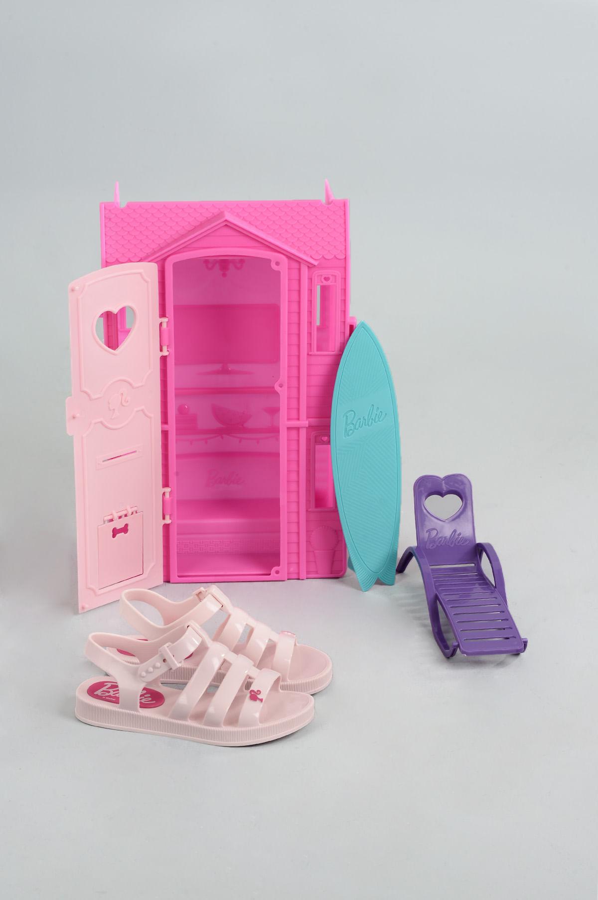 3eed3a190606 Sandália Infantil Barbie Dream House DIVERSOS - ROSA - Mundial Calçados