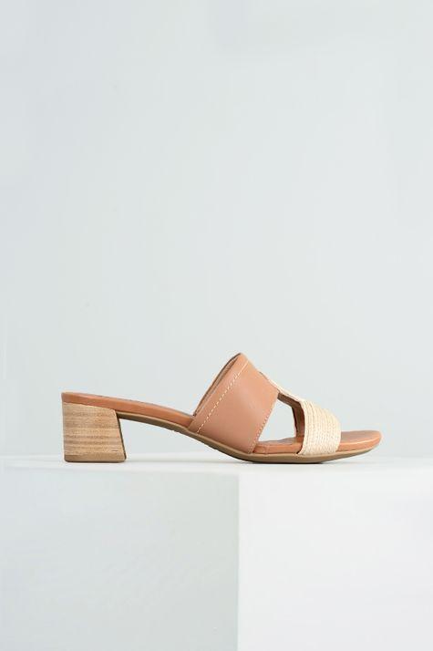 caff0b86c Tamanco Feminino Manye Usaflex CR-CAMEL - Mundial Calçados