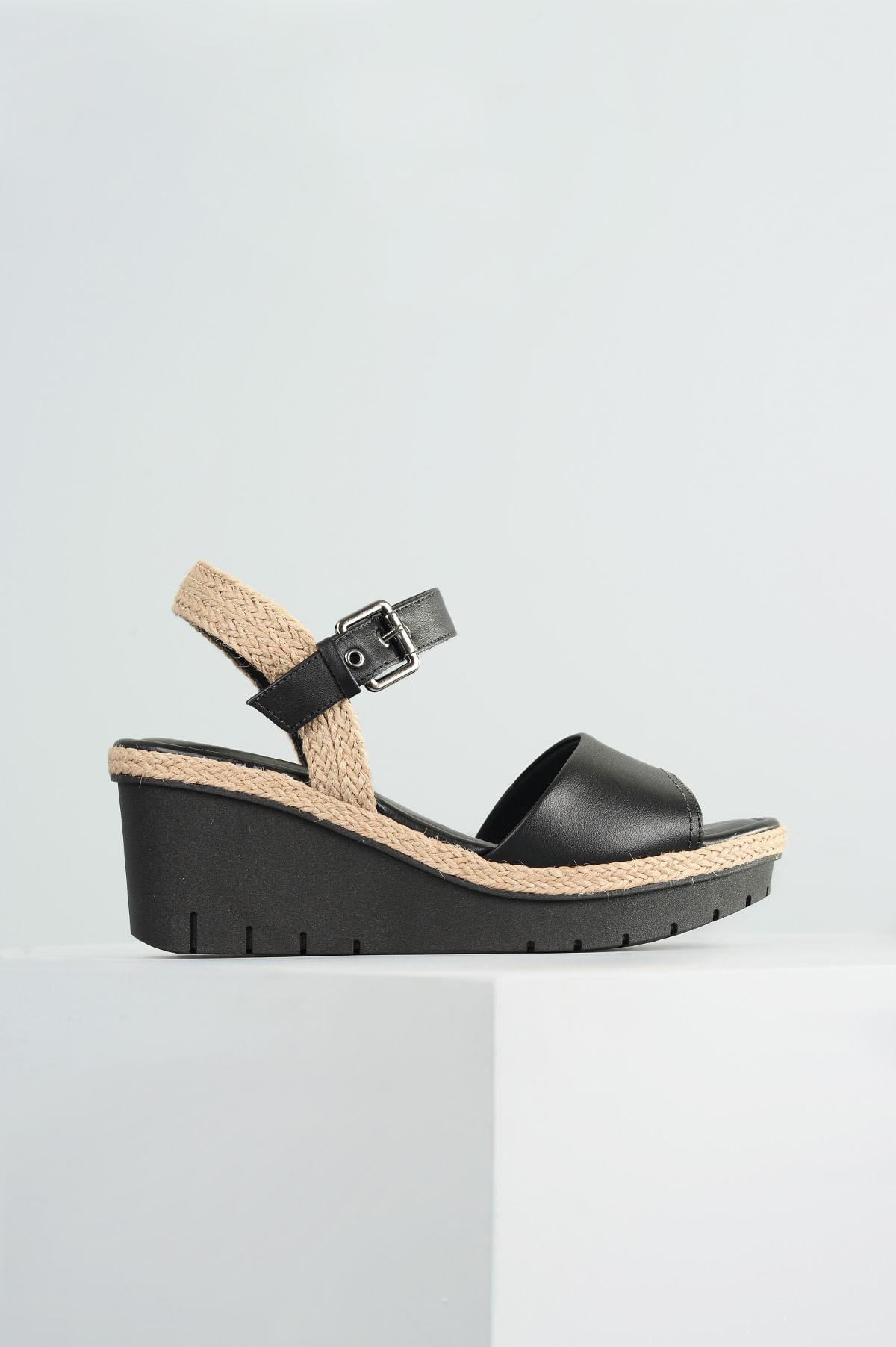 06c4993922 Sandália Feminina Anabela Moncy Usaflex CR-PRETO - Mundial Calçados