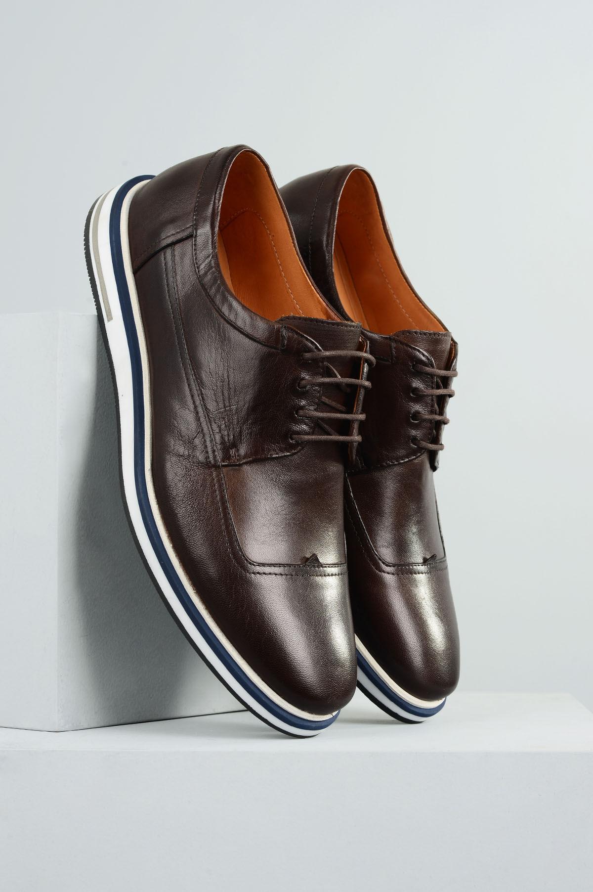 a918f12836 Sapato Masculino Reginaldo Mundial CR - CAFE - Mundial Calçados