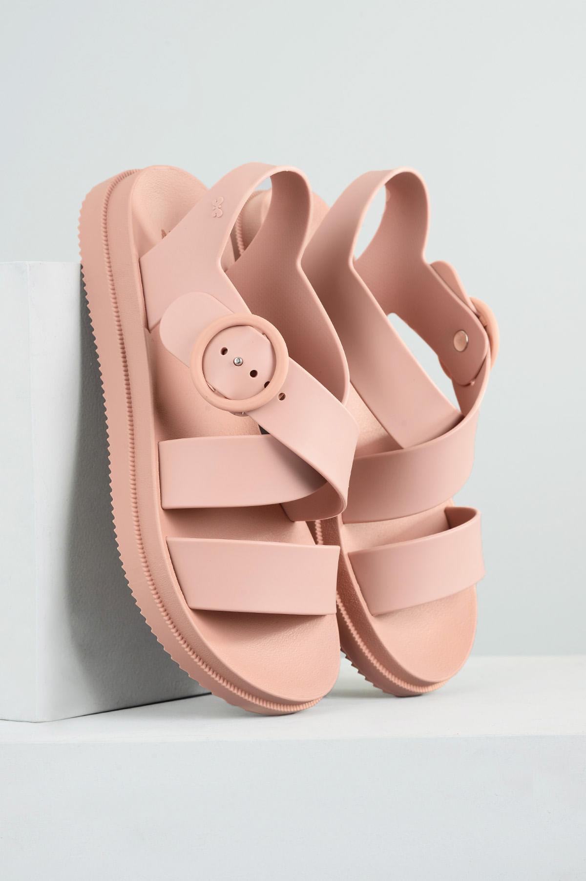 0bbbc95f79 Sandália Feminina Street Sand Zaxy DIVERSOS NUDE - Mundial Calçados