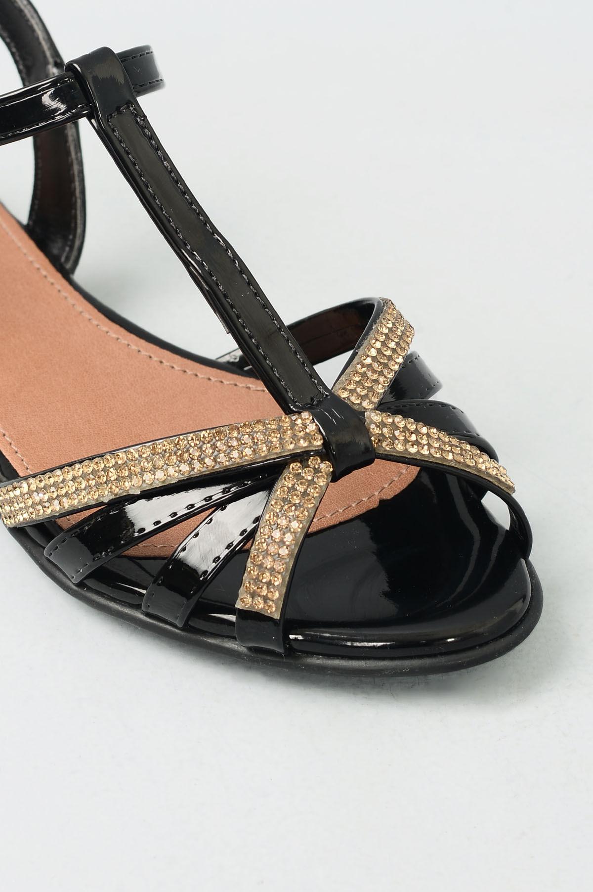 53c9677d2 Sandália Infantil Rasteira Carol Mundial VERNIZ PRETO - Mundial Calçados