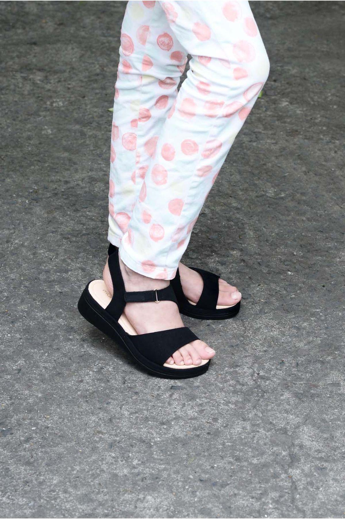ff09d51842 Sandália Infantil Anabela Monica Mundial CAM - PRETO - Mundial Calçados
