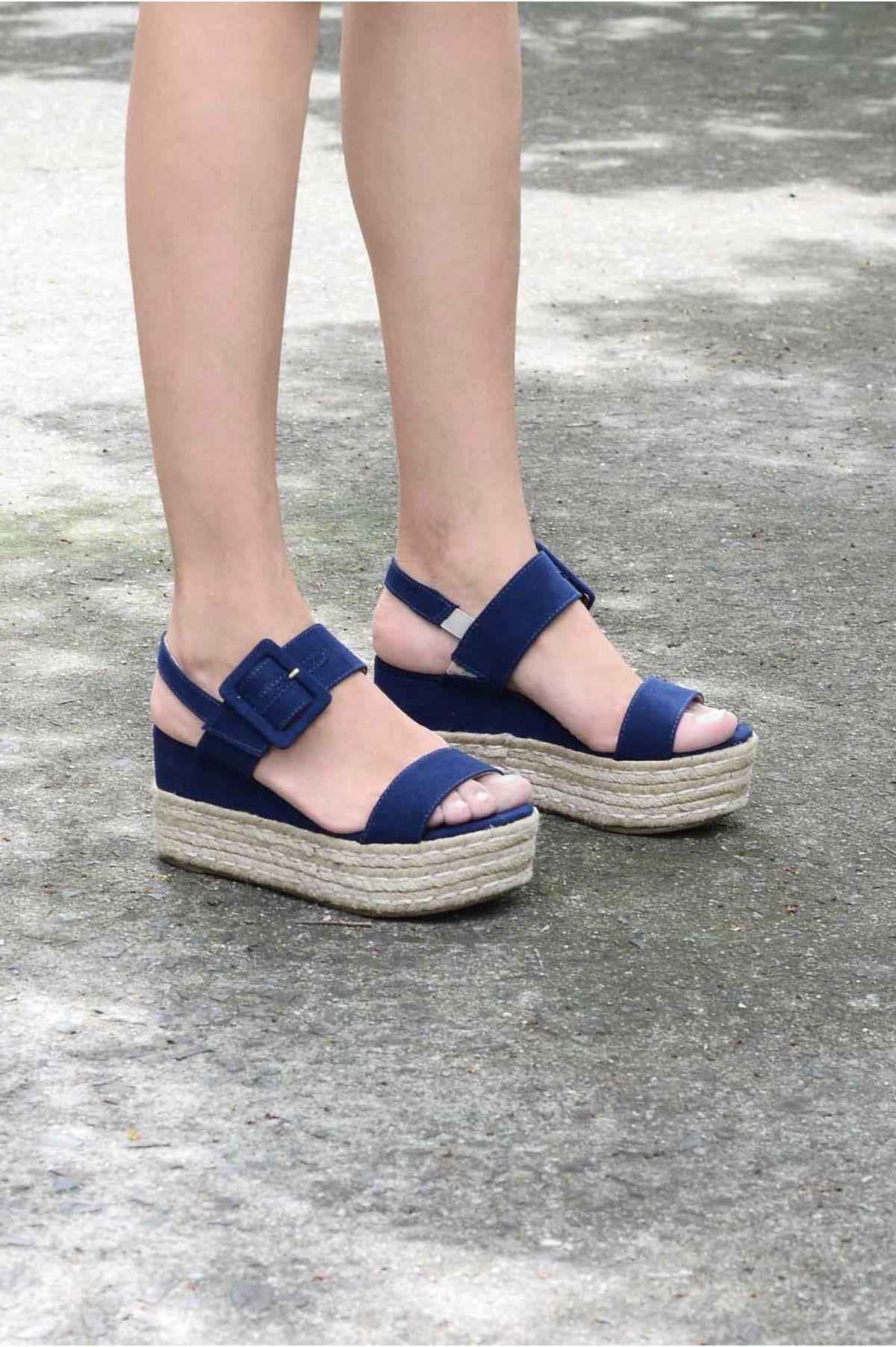 985c7ccc4 Sandália Feminina Anabela Leiah Mundial CAM - MARINHO - Mundial Calçados