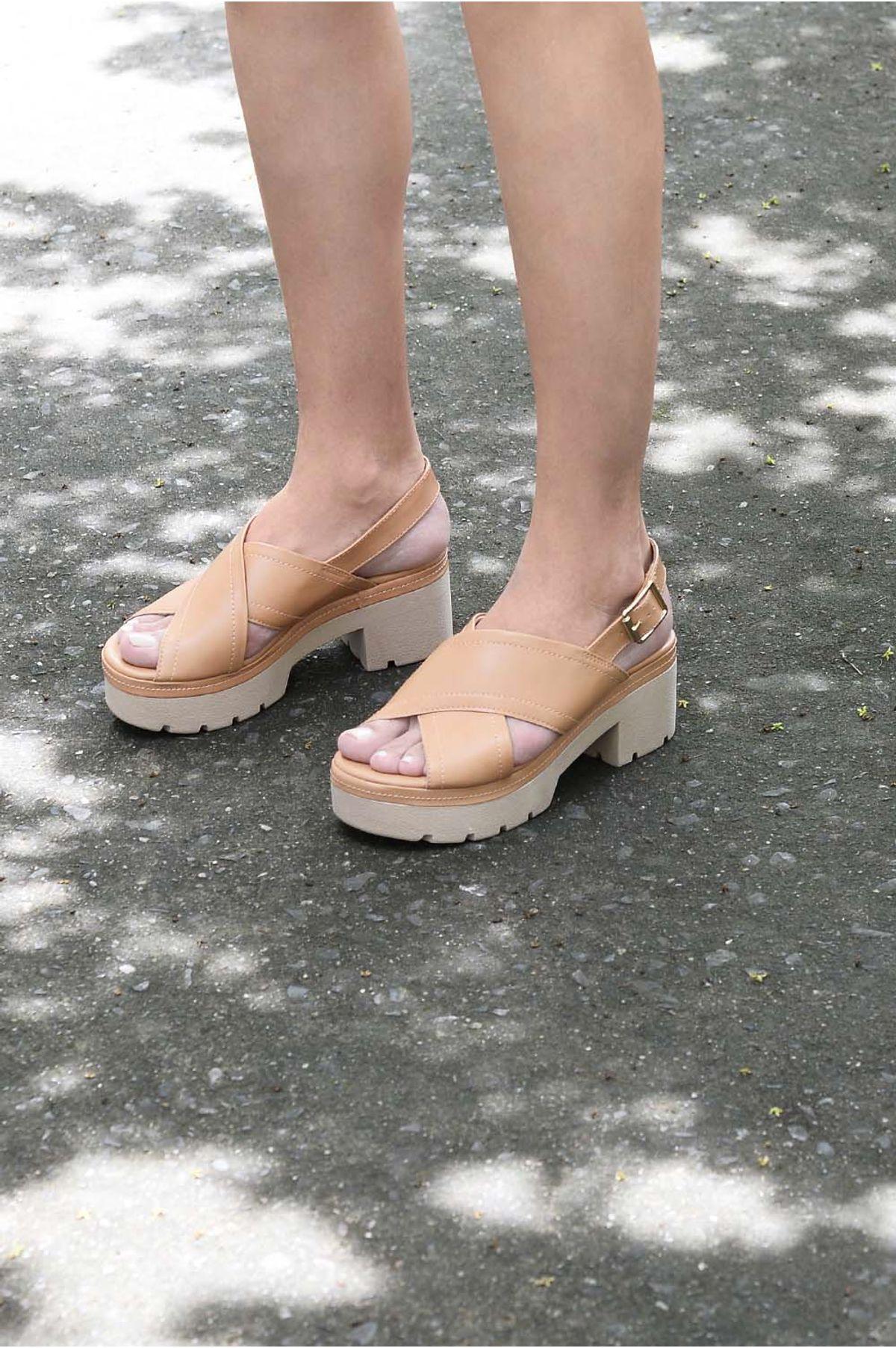 2e9014aff99fc Sandália Feminina Salto Alto Mosy Ramarim SINT - TAN - Mundial Calçados