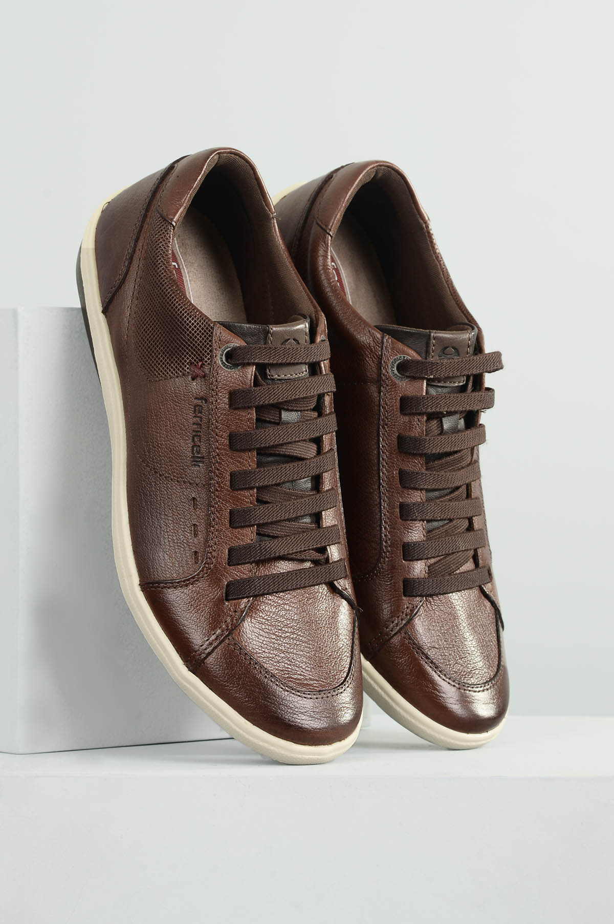 f1412a855 Sapatênis Masculino Ferricelli Wesley CR TAN - Mundial Calçados
