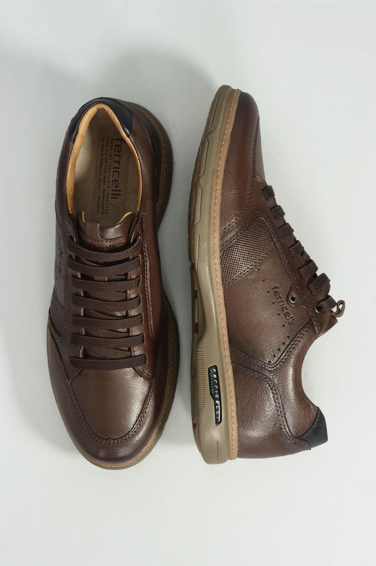 707b5c7e5 Sapatênis Masculino Ferricelli Bruno MARROM - Mundial Calçados