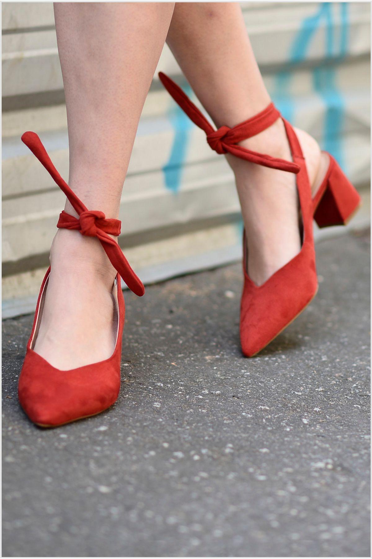 6f74ece11 Sapato Feminino Salto Médio Miley Mundial CAM - VERMELHO - Mundial ...