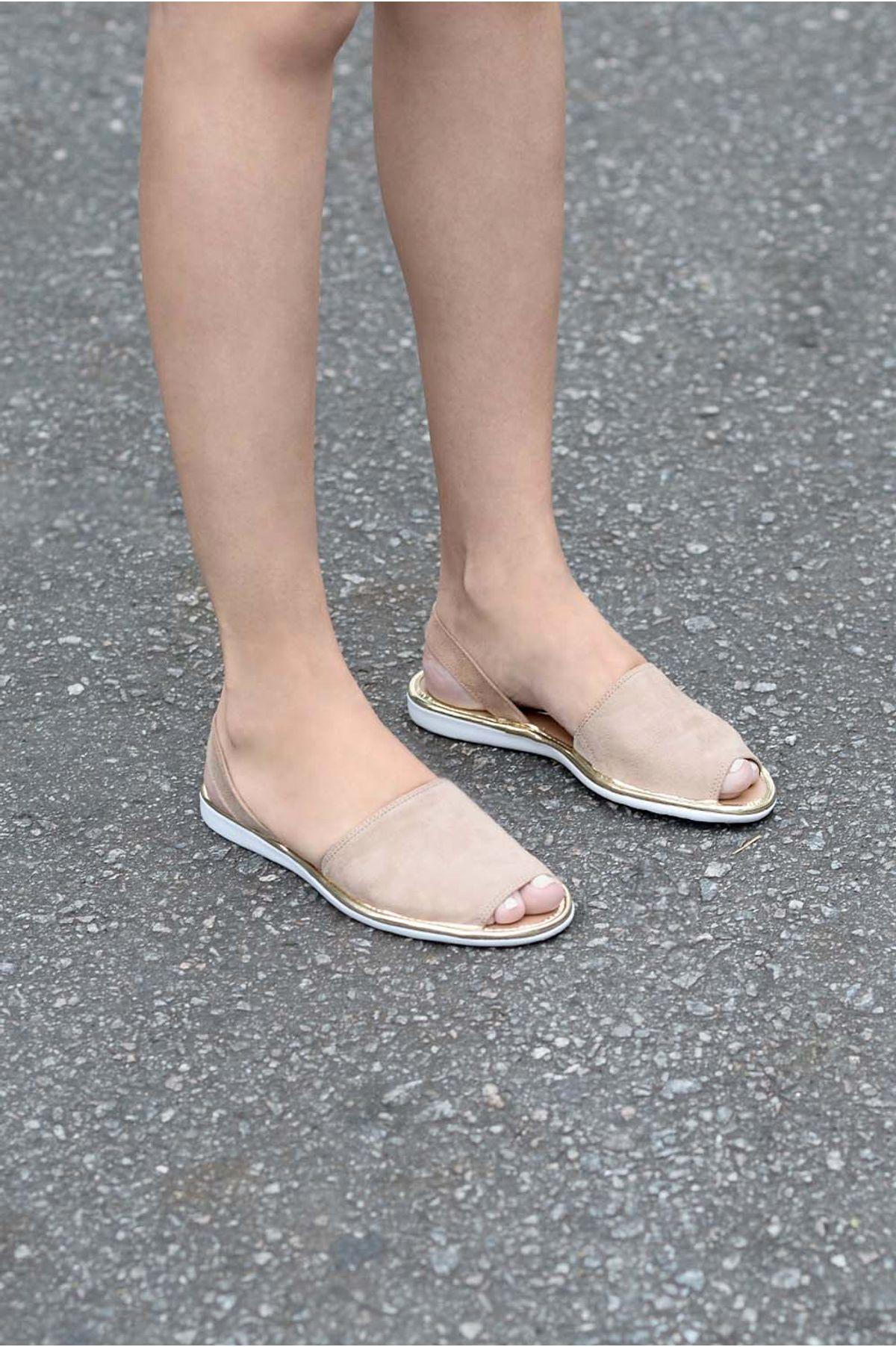 208ba00bd Sandália Feminina Rasteira Nyara Vizzano CAM - BEGE - Mundial Calçados