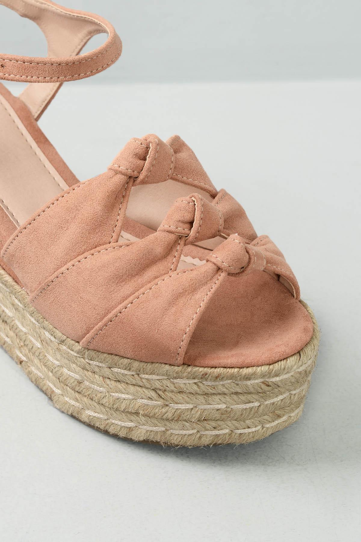 8d542c119e Sandália Feminina Anabela Marah Mundial CAM - NUDE - Mundial Calçados