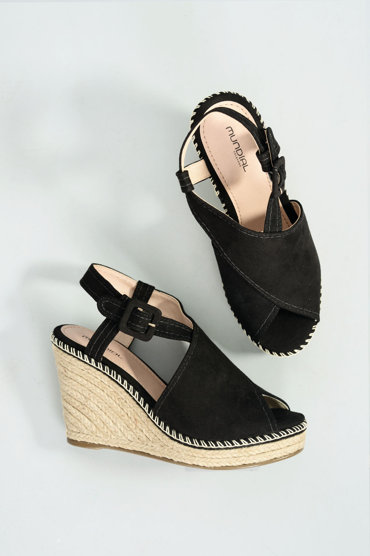 6049ad7af Sandália Feminina Anabela Katia Mundial CAM - PRETO - Mundial Calçados
