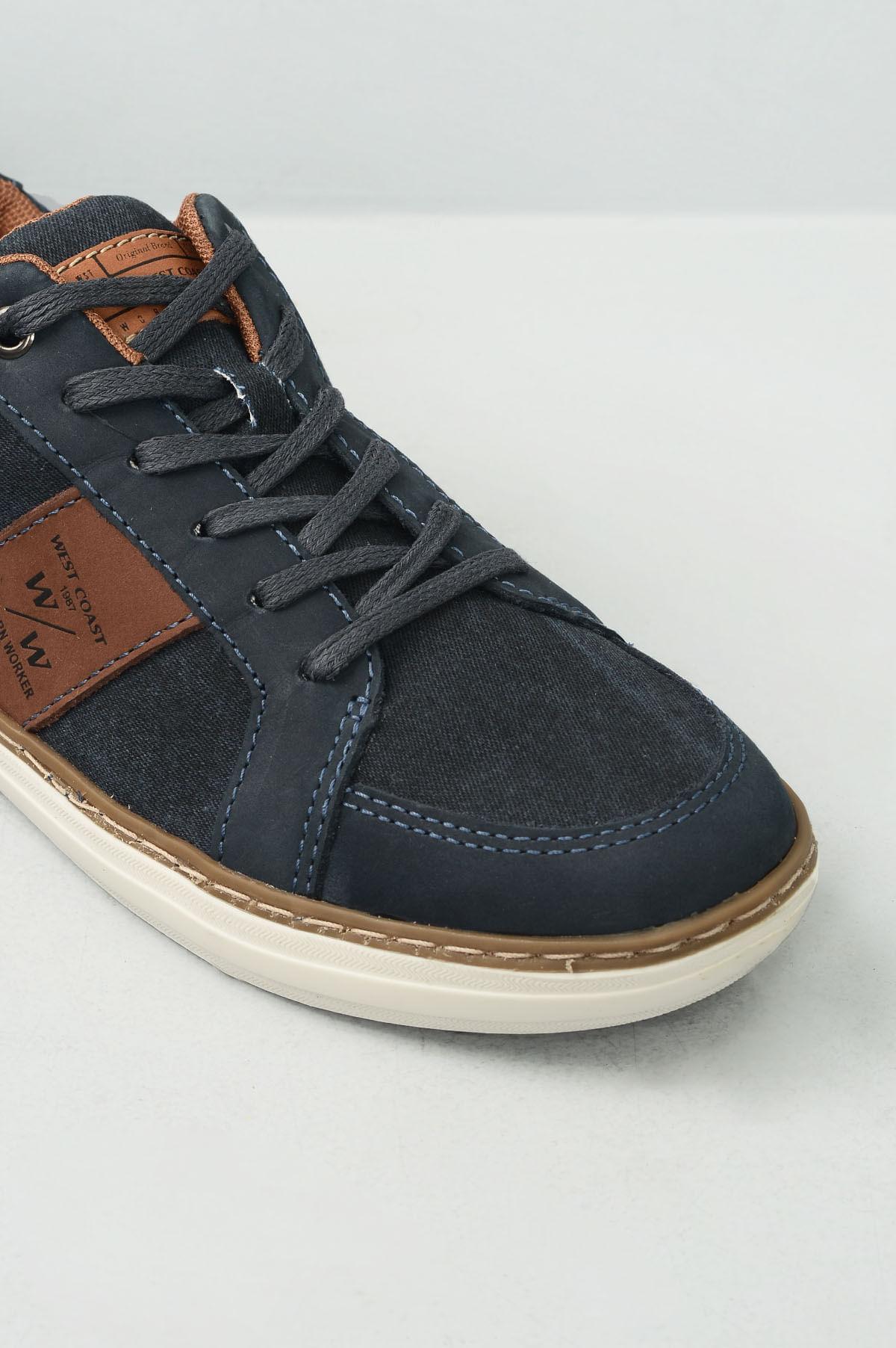 f7662f98e3 Sapatênis Masculino West Coast Modena TEC - MARINHO - Mundial Calçados