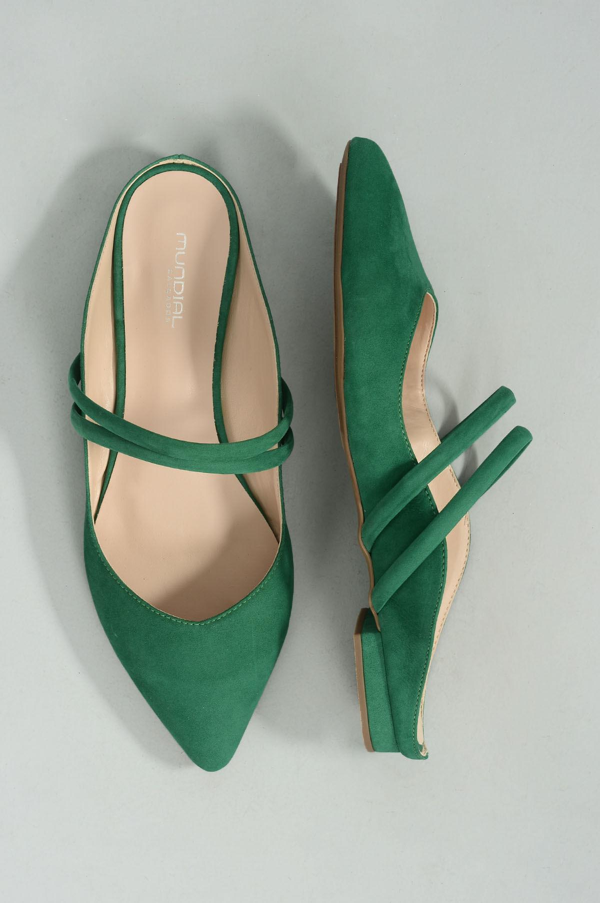 2ded09cff5 Mule Feminino Salto Baixo Chaye Mundial NB- VERDE - Mundial Calçados