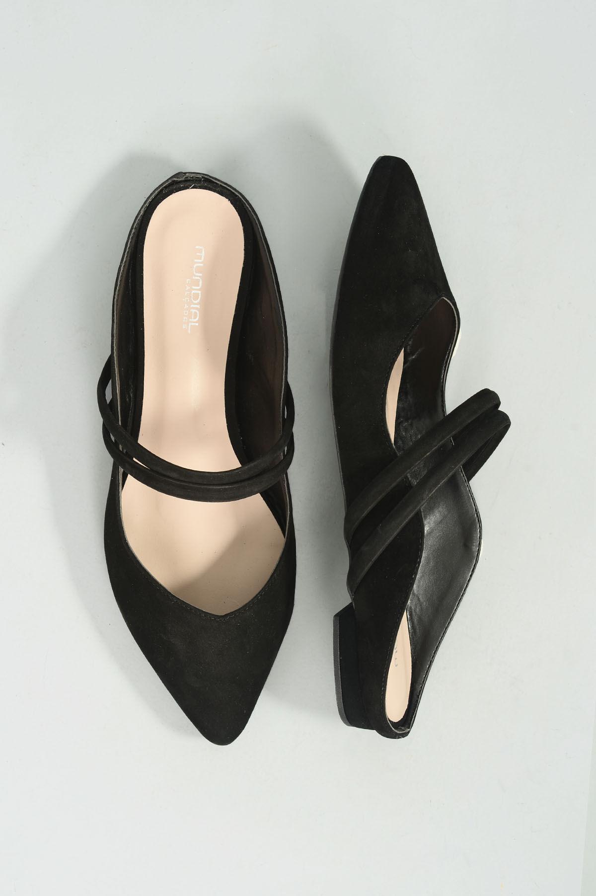 aa692028a6 Mule Feminino Salto Baixo Chaye Mundial NB - PRETO - Mundial Calçados
