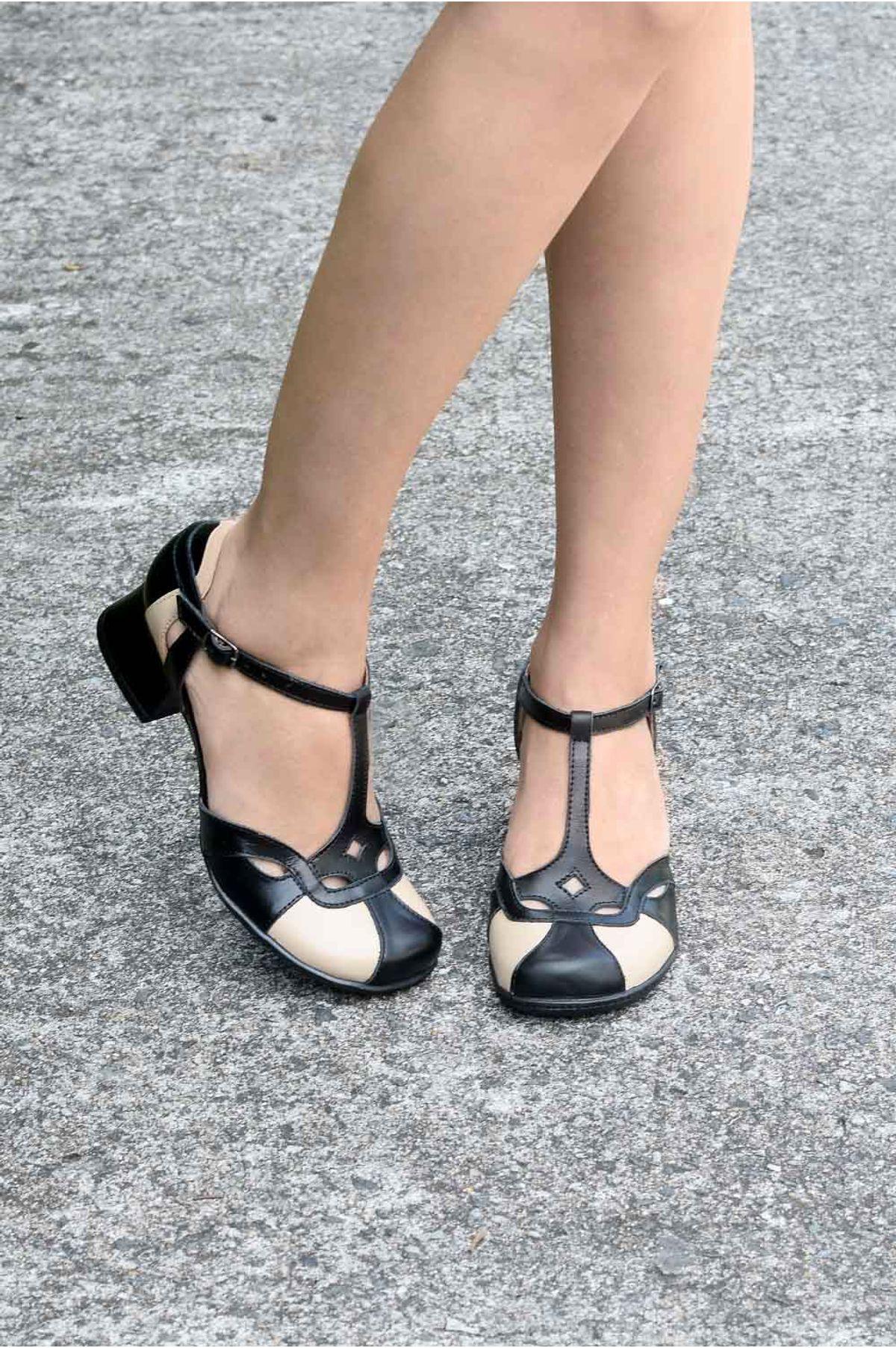 e6f825cfe Sapato Feminino Salto Médio Maneva Mundial CR-PRETO - Mundial Calçados