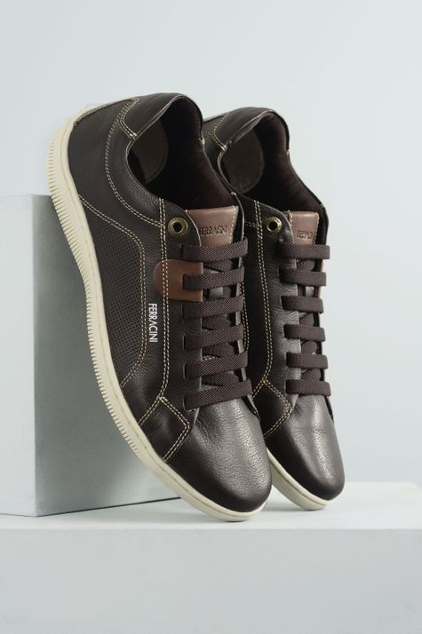 d339c1a74 Sapatênis Masculino Ferracini Canvas CR-CHOCOLATE - Mundial Calçados